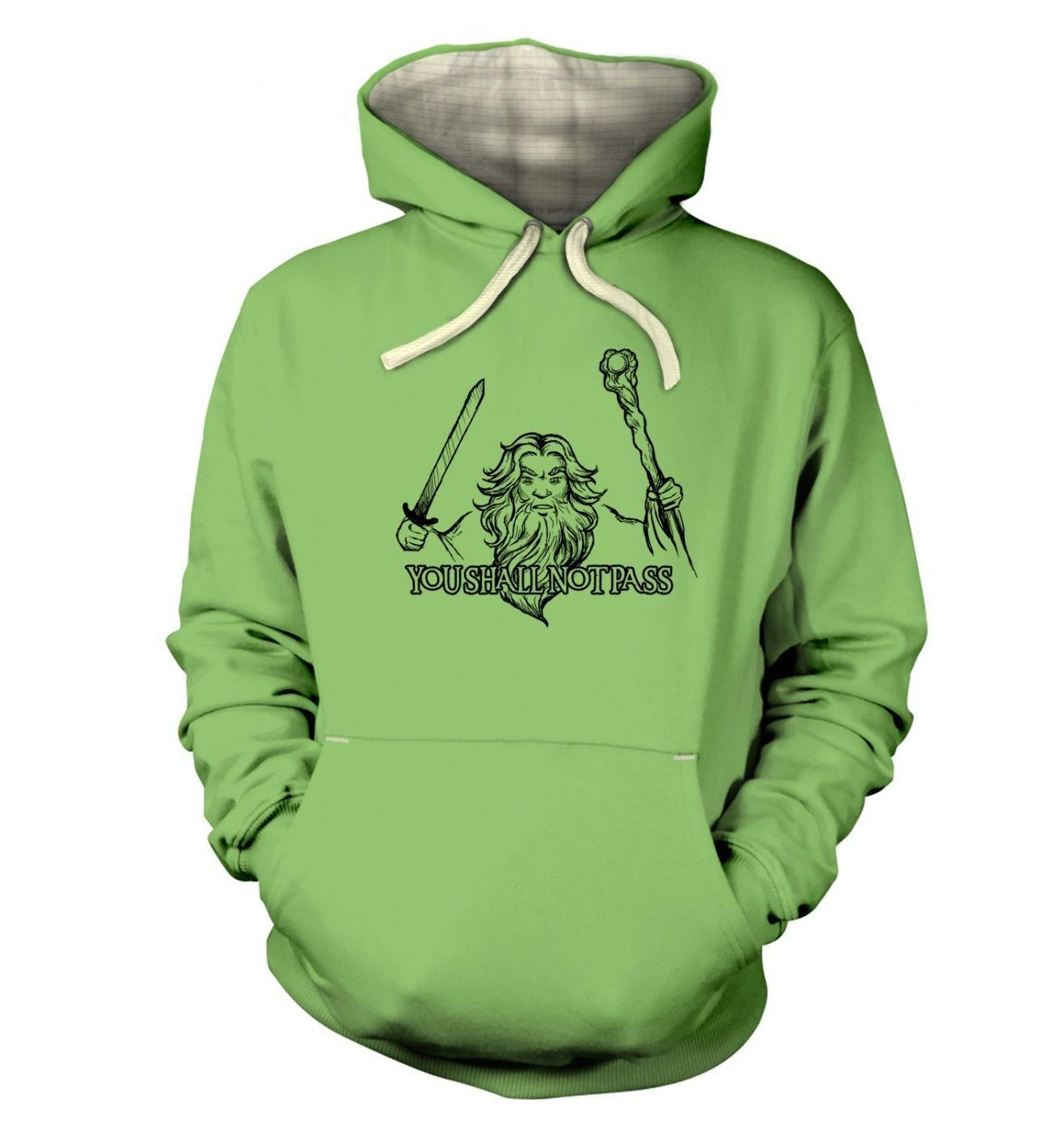 Gandalf you shall not pass  hoodie (premium)