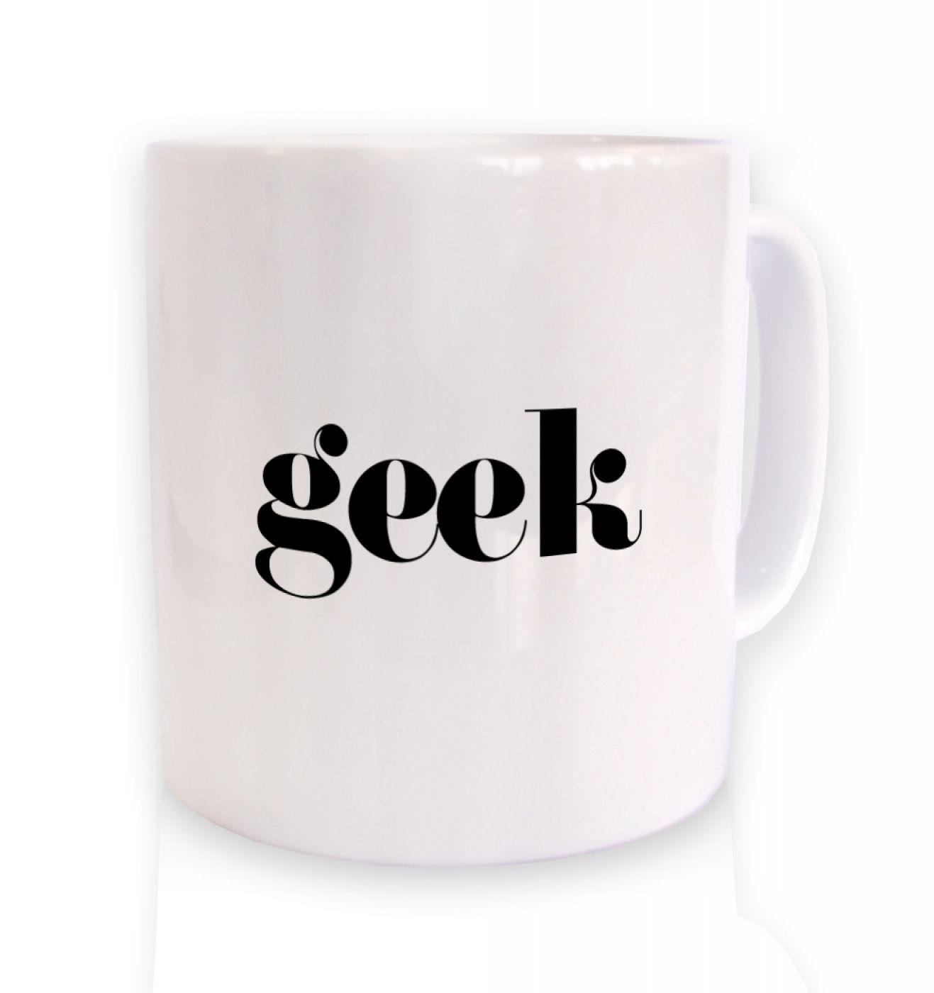Geek ceramic coffee mug