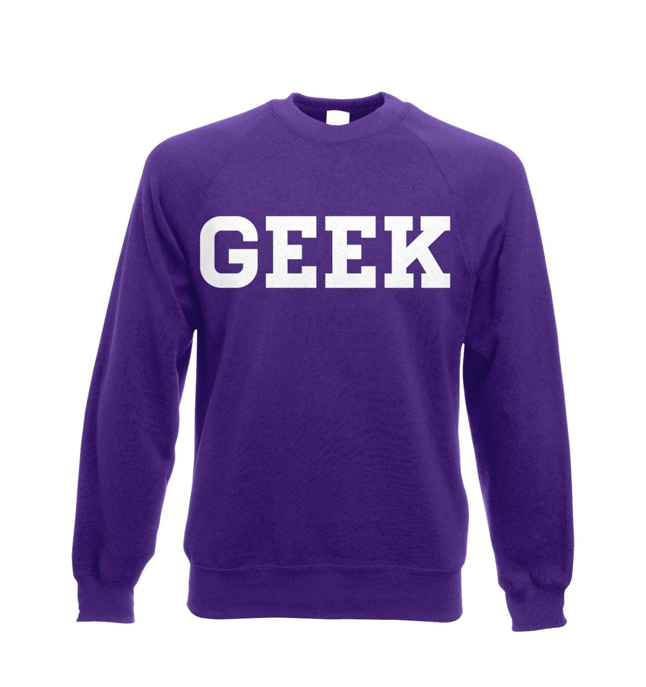 Geek adult's crewneck sweatshirt