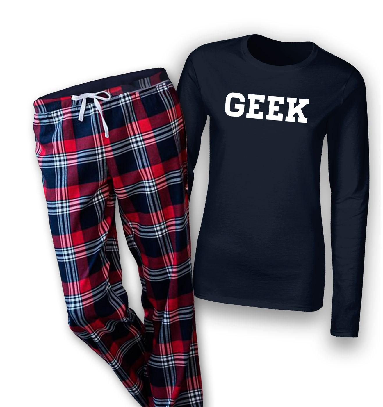 Geek womens long sleeve pyjamas by Something Geeky