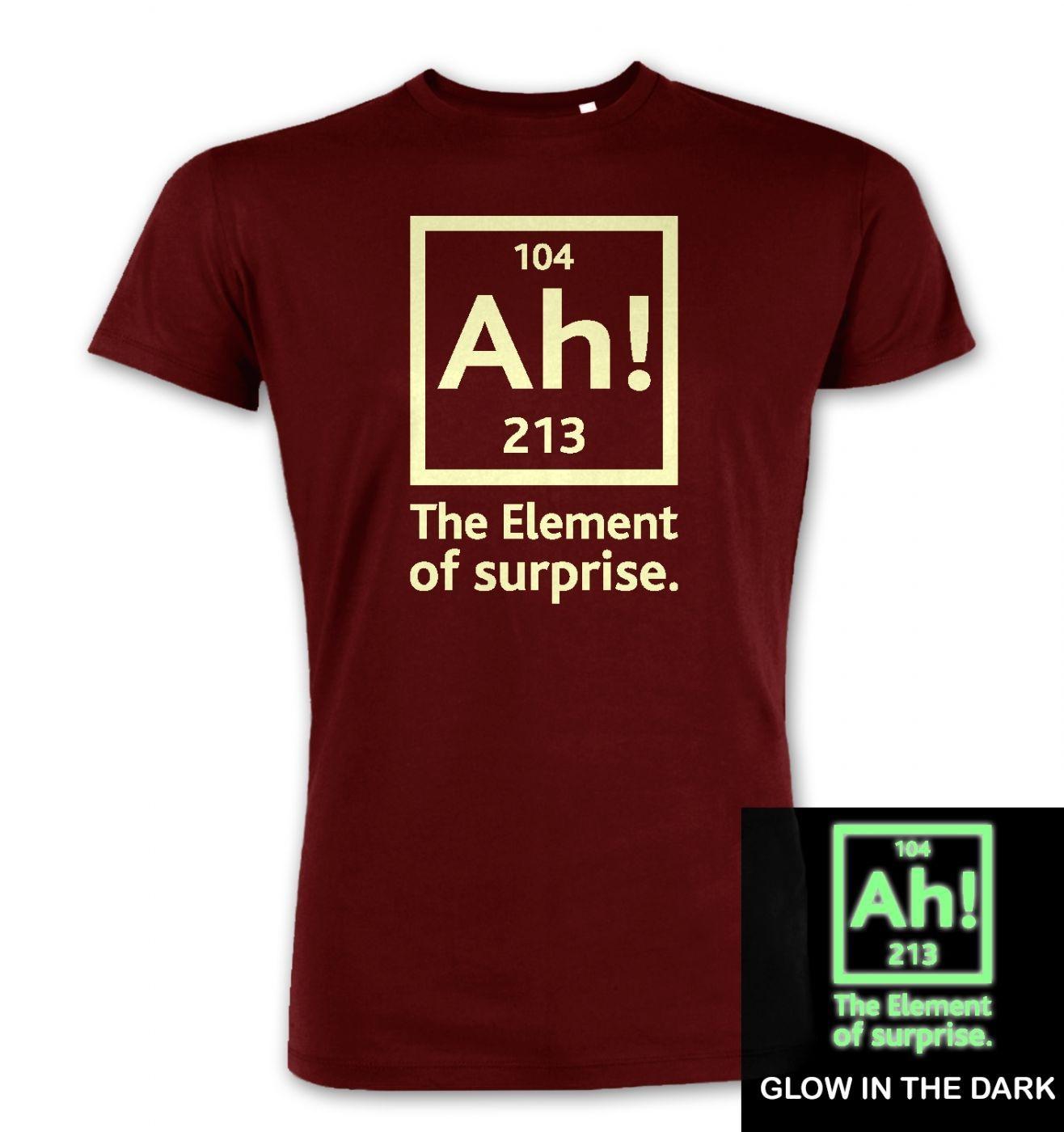 1e3127b62 Ah! The Element of Surprise (glow in the dark) premium t-shirt ...
