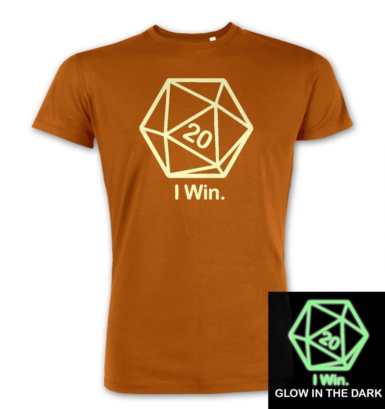 D20 I Win (glow in the dark) premium t-shirt