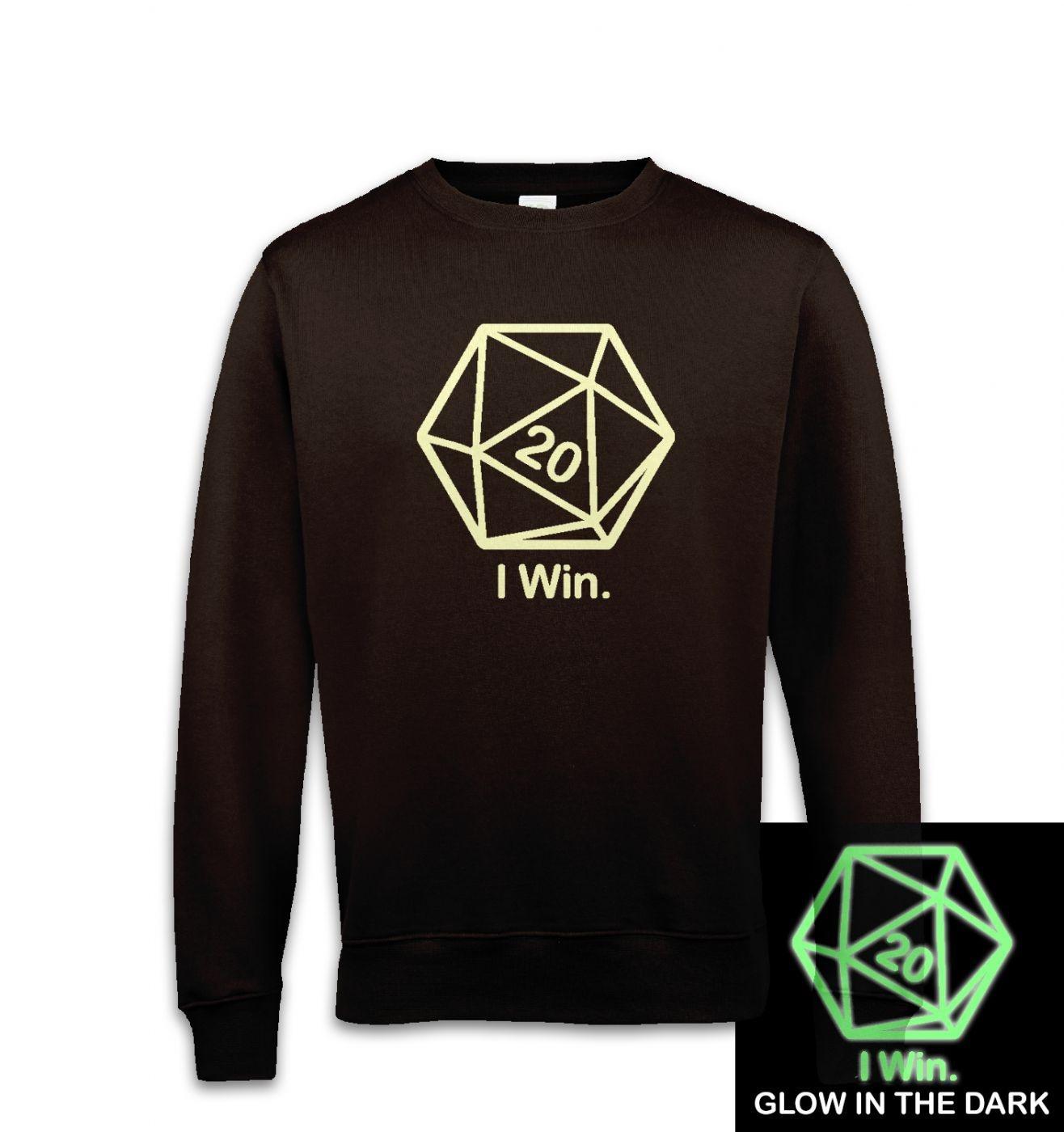 D20 I Win (glow in the dark) sweatshirt