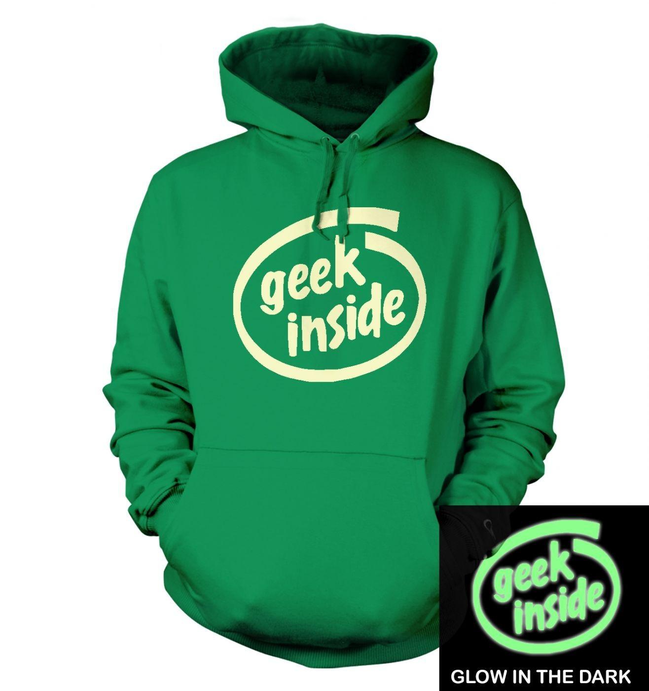Geek Inside (glow in the dark) hoodie