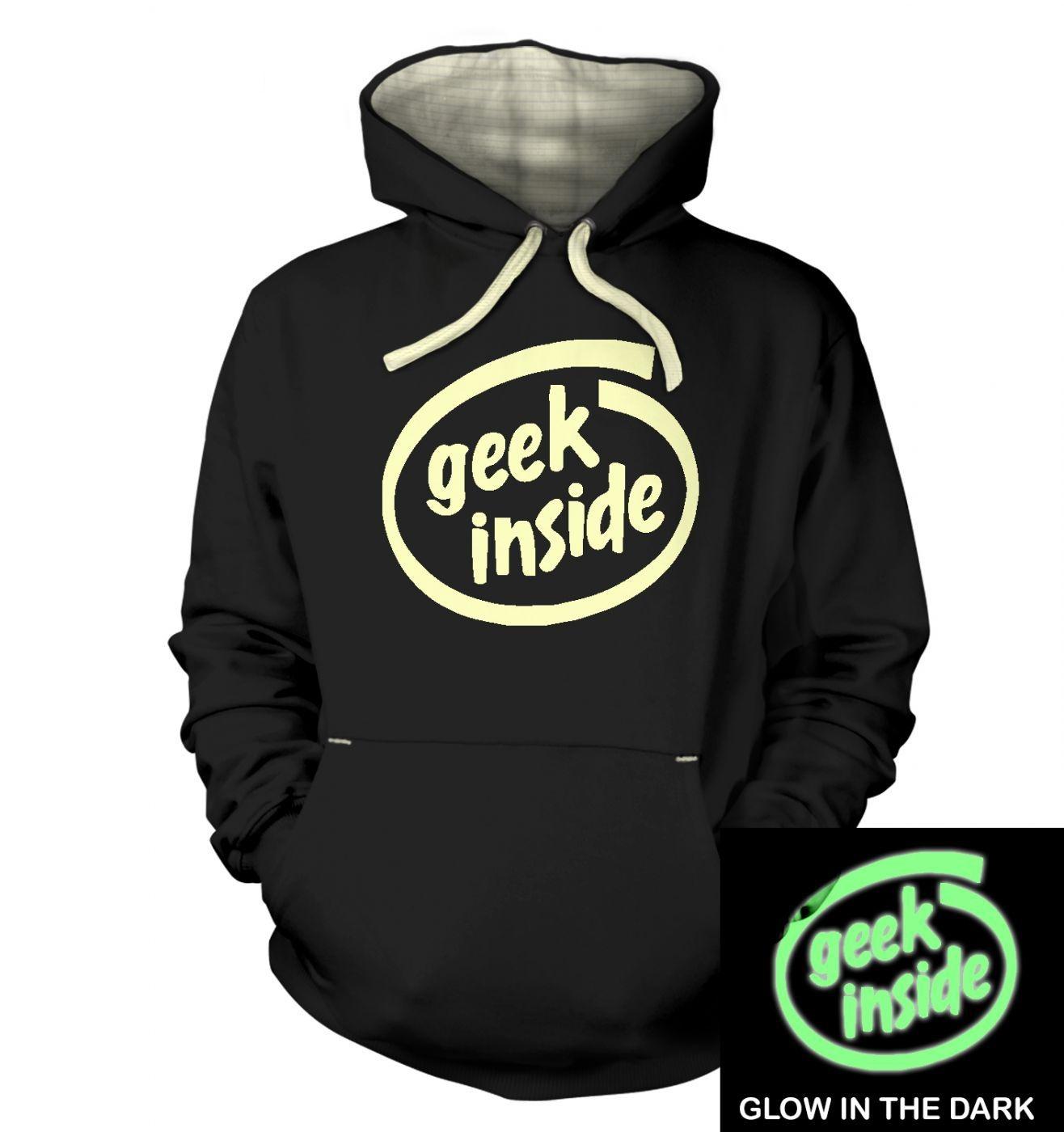 Geek Inside (glow in the dark) hoodie (premium)