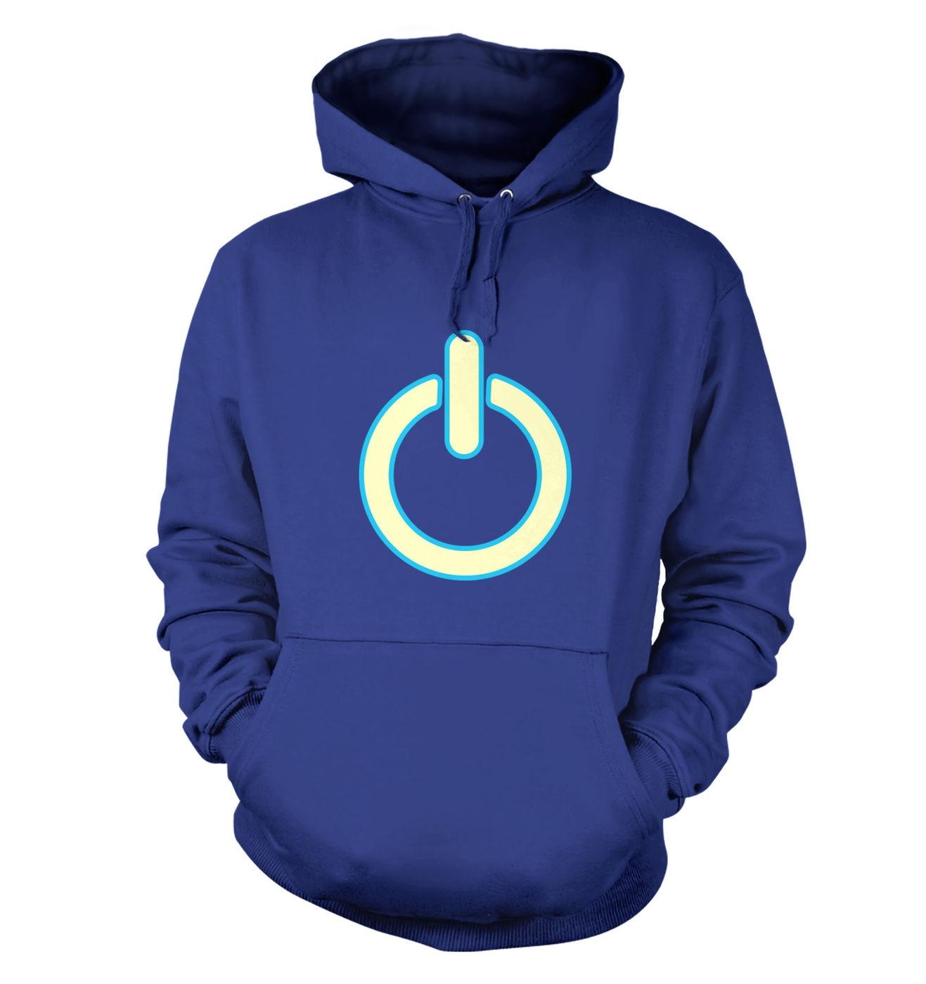 Glow In The Dark Power Symbol adult's hoodie