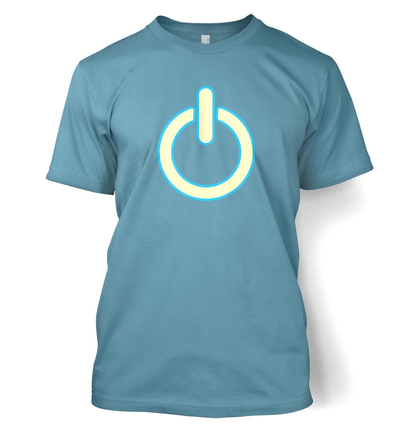 Glow In The Dark Power Symbol men's t-hirt