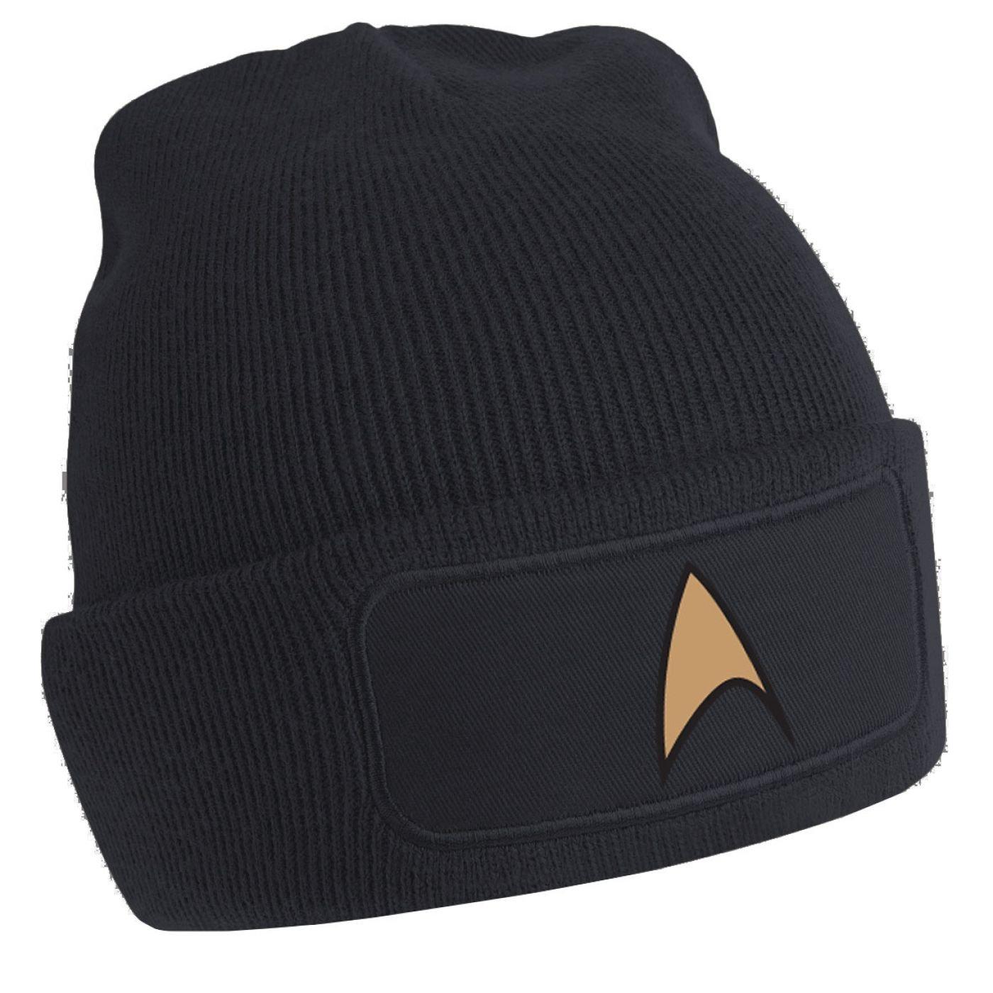 Gold Starfleet Badge beanie hat