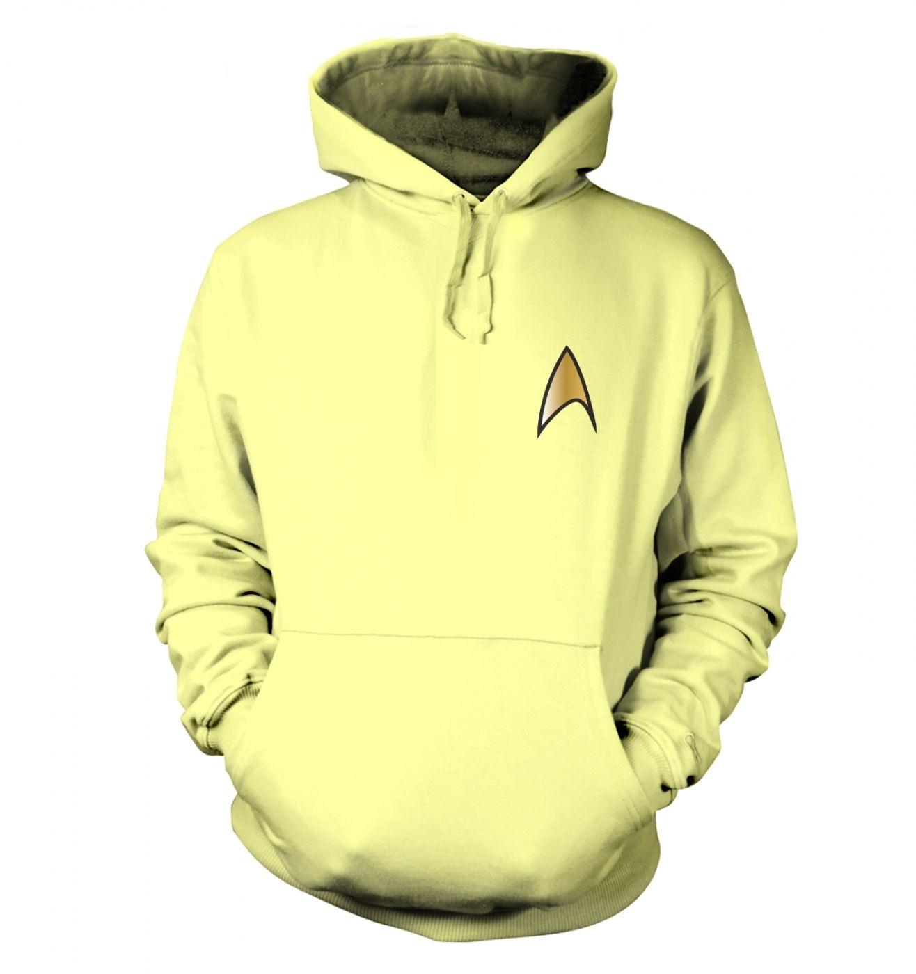 Gold Starfleet Badge hoodie