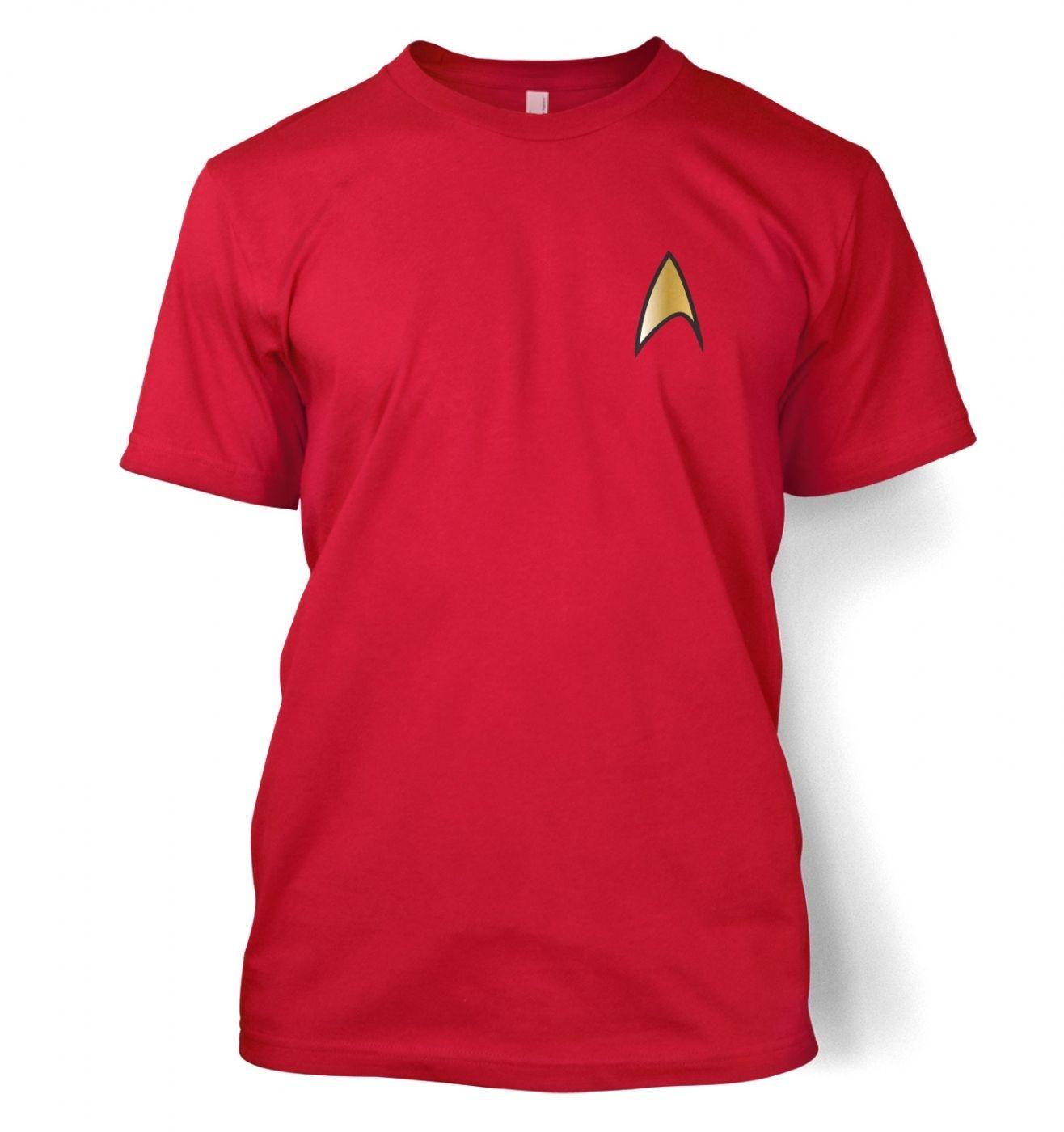 Gold Starfleet Badge men's t-shirt