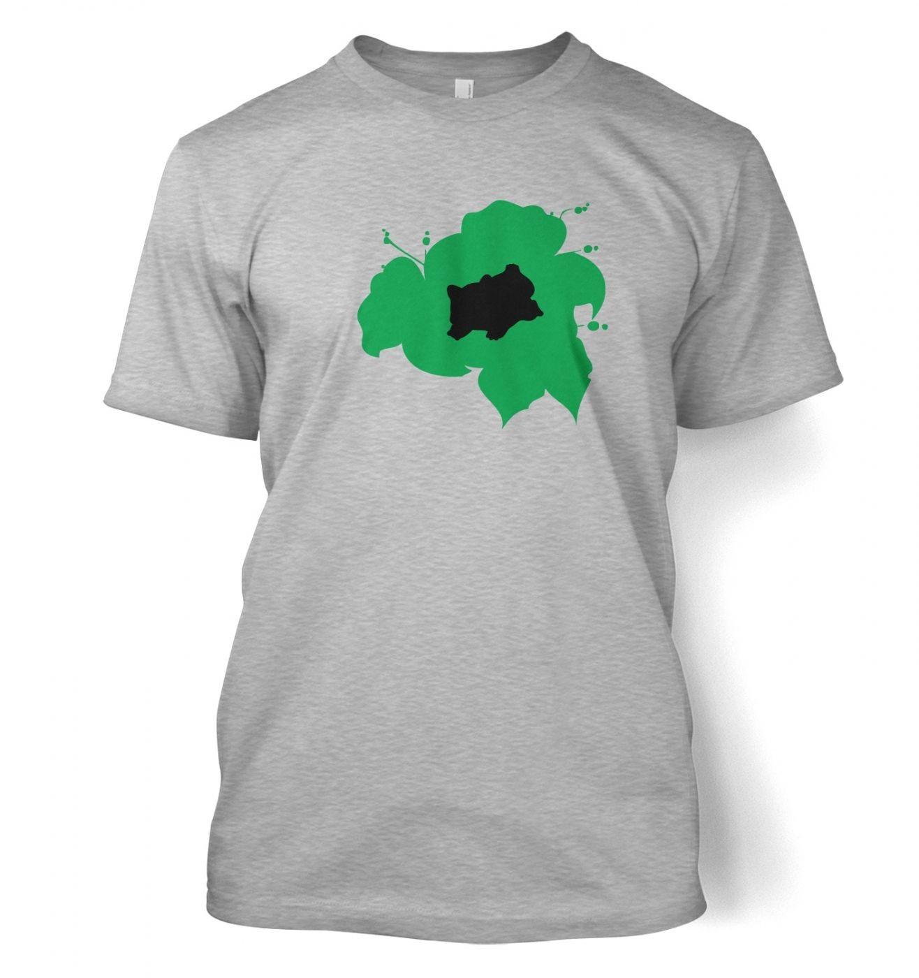 Women's Green Bulbasaur Silhouette T-Shirt - Inspired by Pokemon