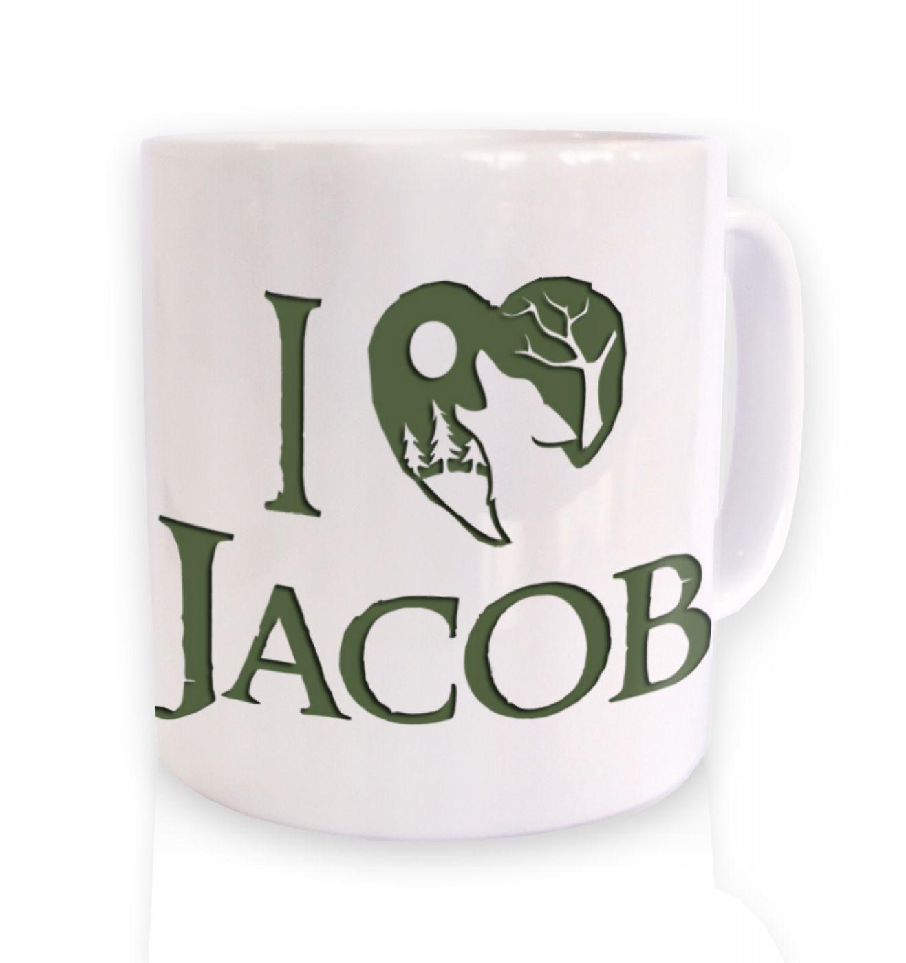 I Heart Jacob (green) ceramic coffee mug