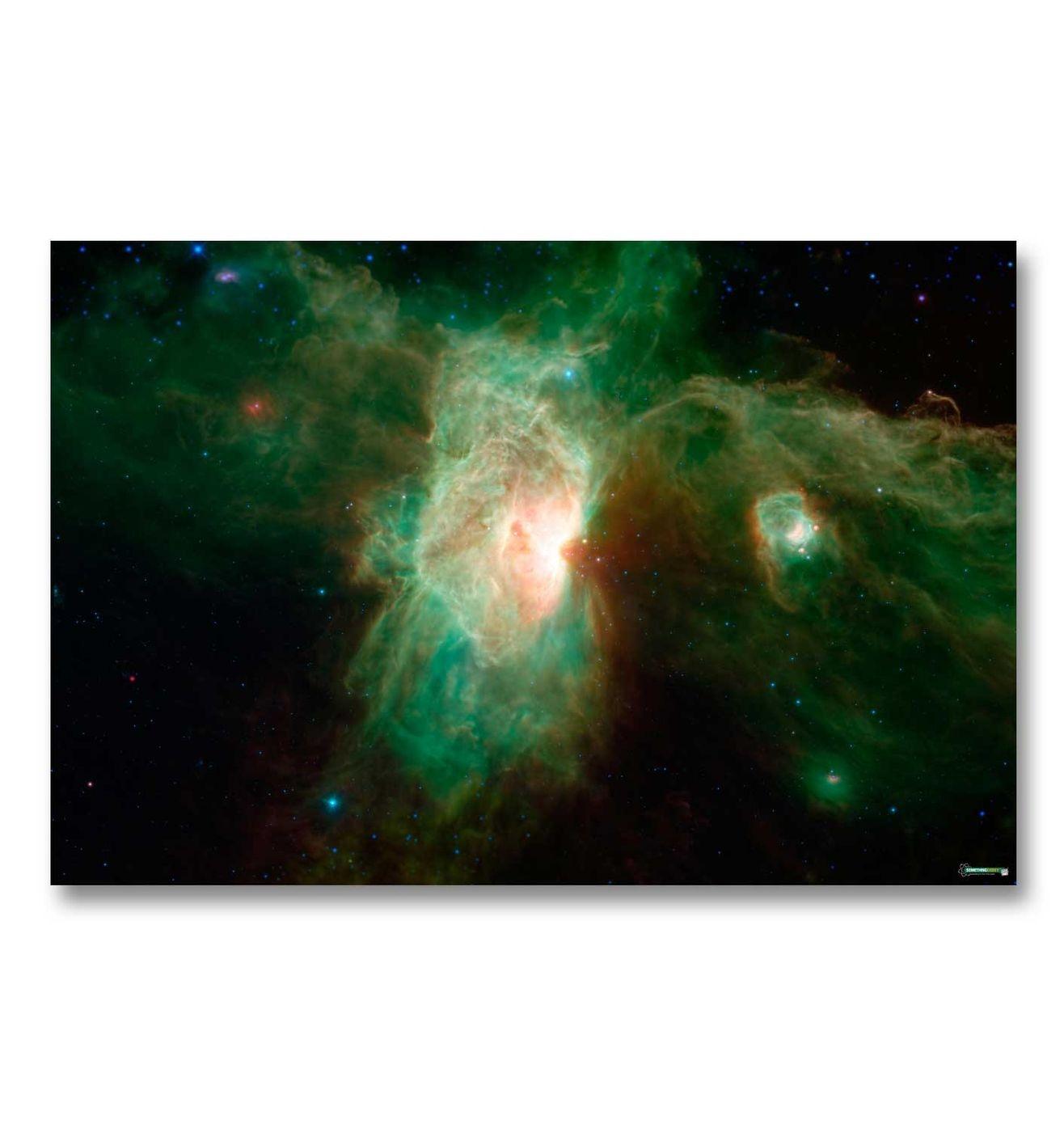 Green Nebula gaming mat - stunning hardwearing hi res space battle mat