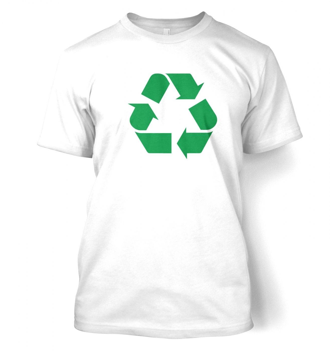 Green Recycling Symbol men's t-shirt