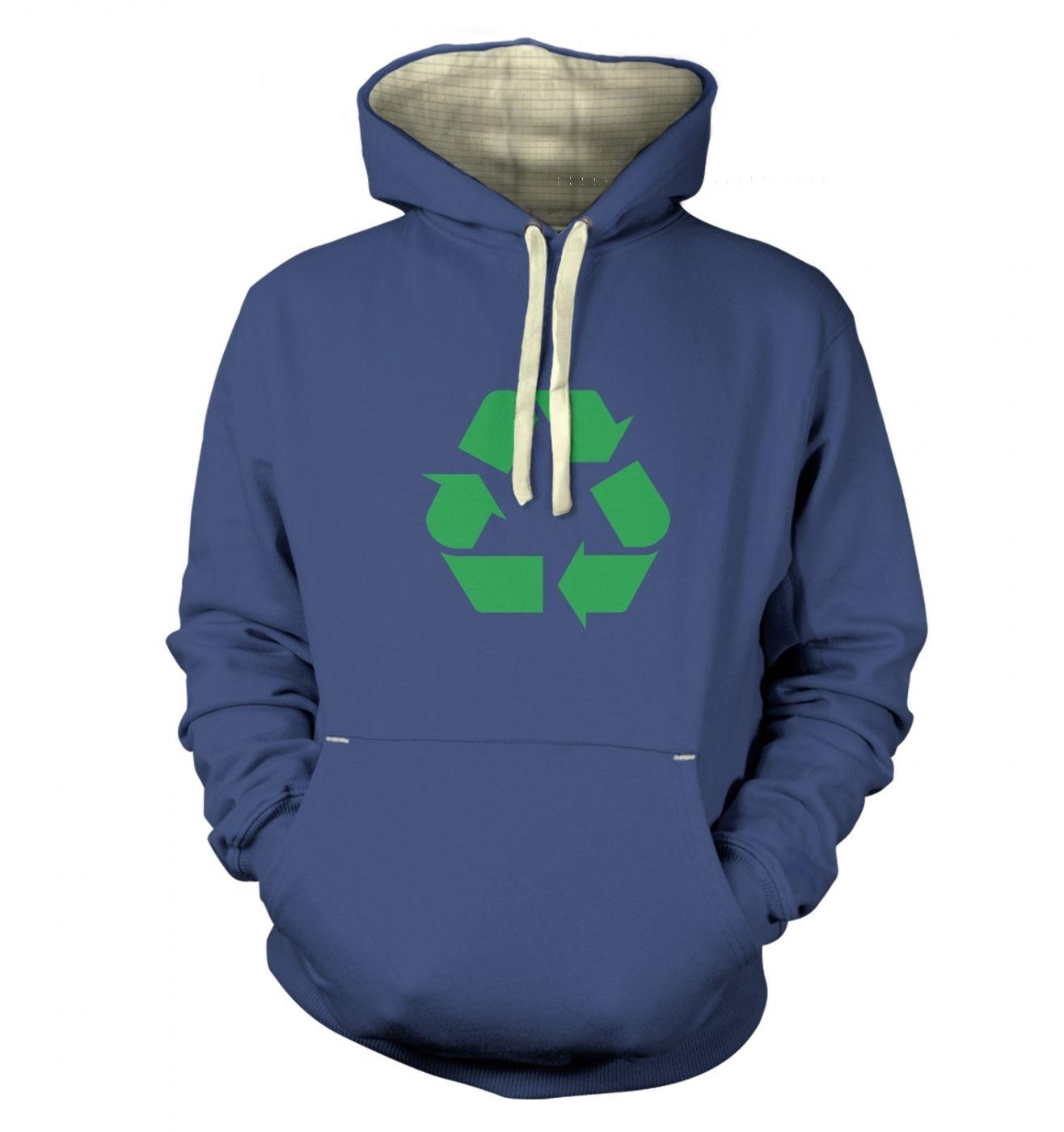 Green Recycling Symbol premium hoodie