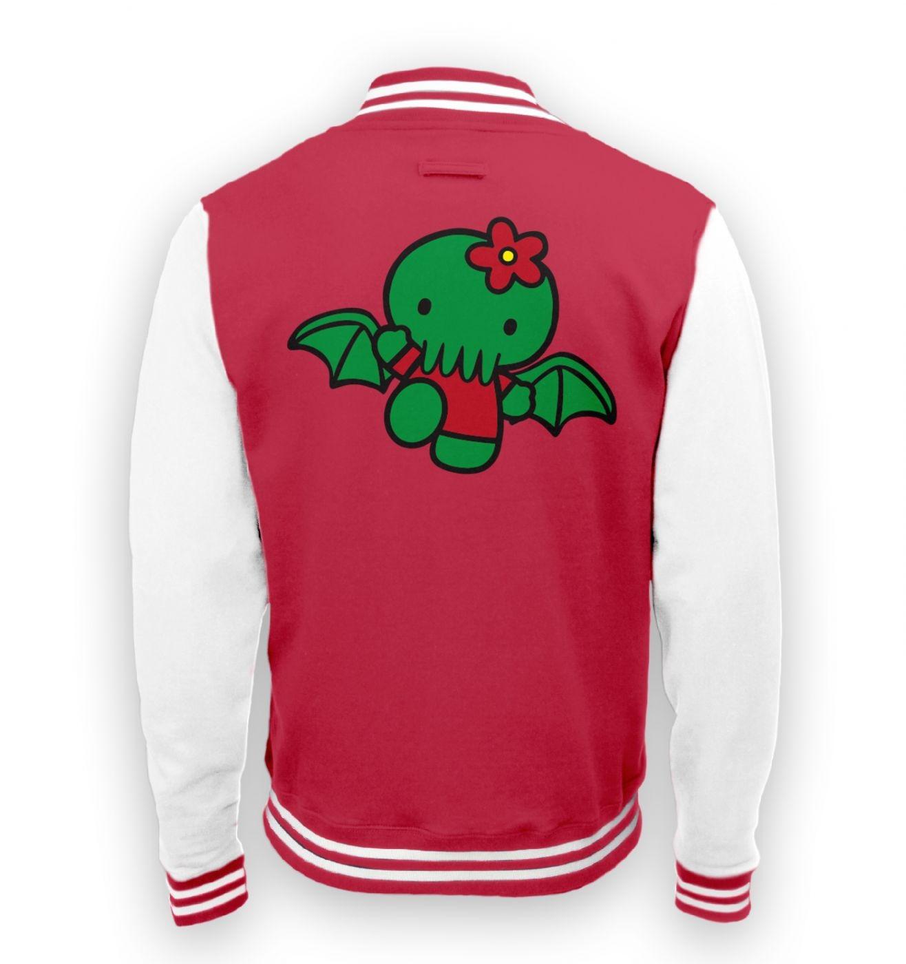 Hello Cthulhu varsity jacket