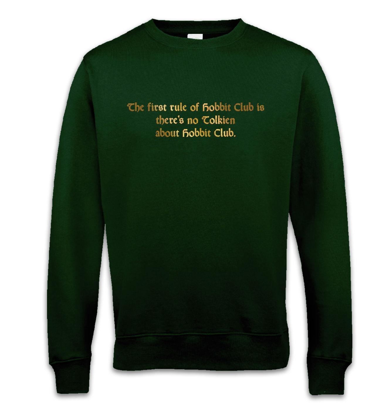 Hobbit Club sweatshirt - funny The Hobbit / Fight Club mashup sweater
