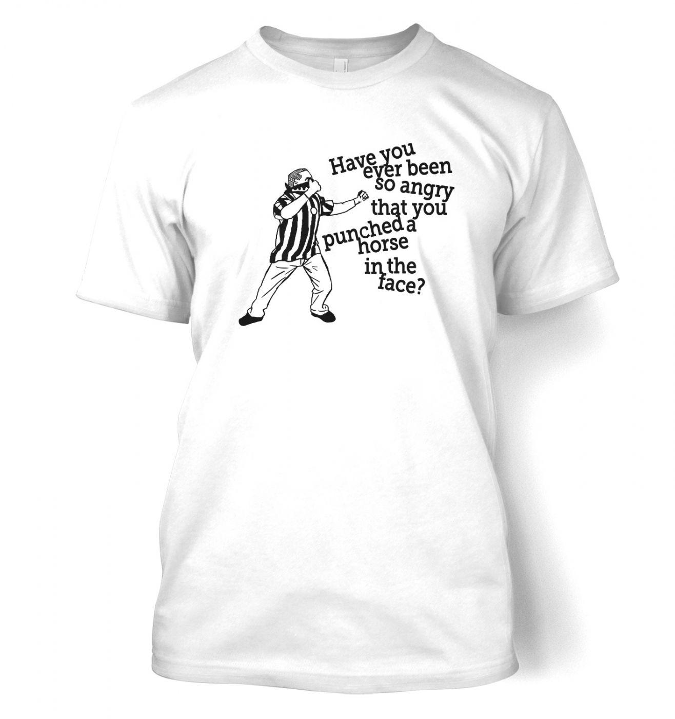Geordie Horse Punch Guy (black detail) men's t-shirt