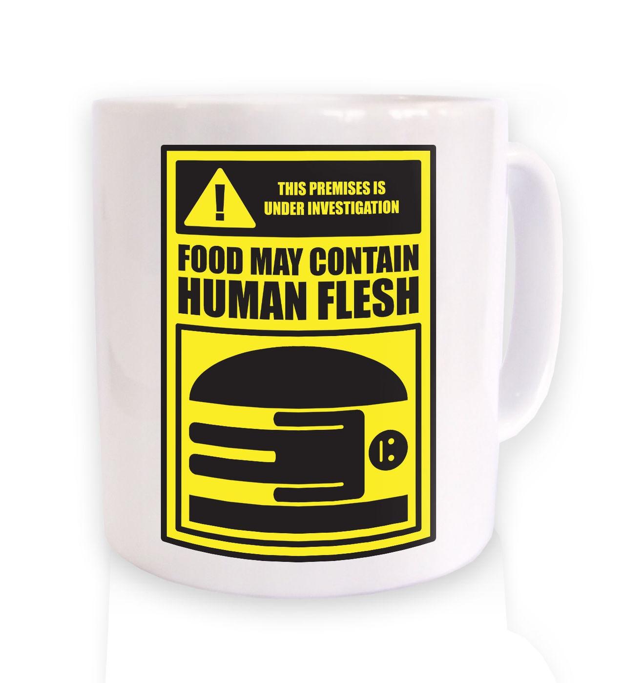 Human Flesh Burger mug by Something Geeky