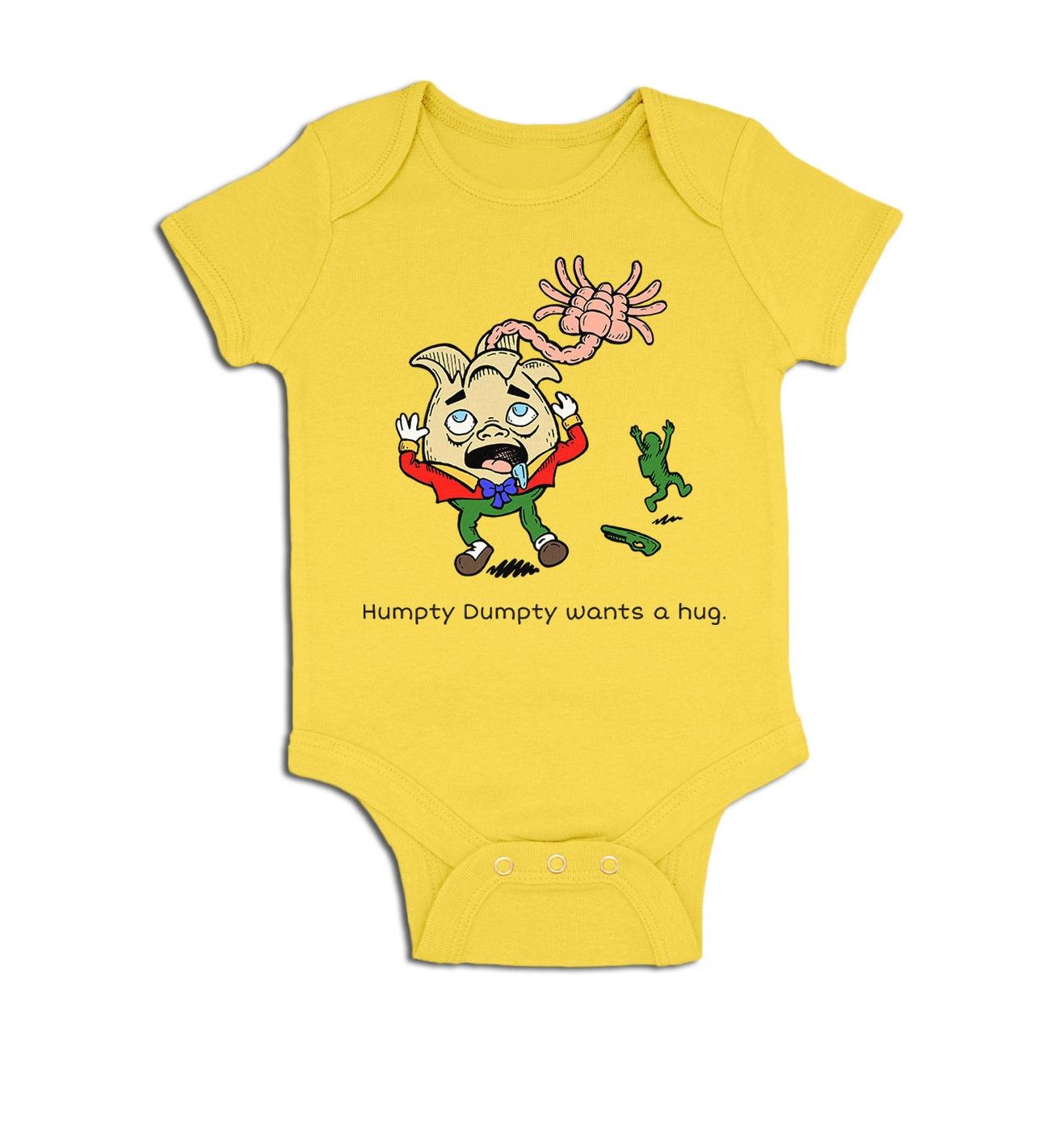 Humpty Dumpty Wants A Hug baby grow by Something Geeky