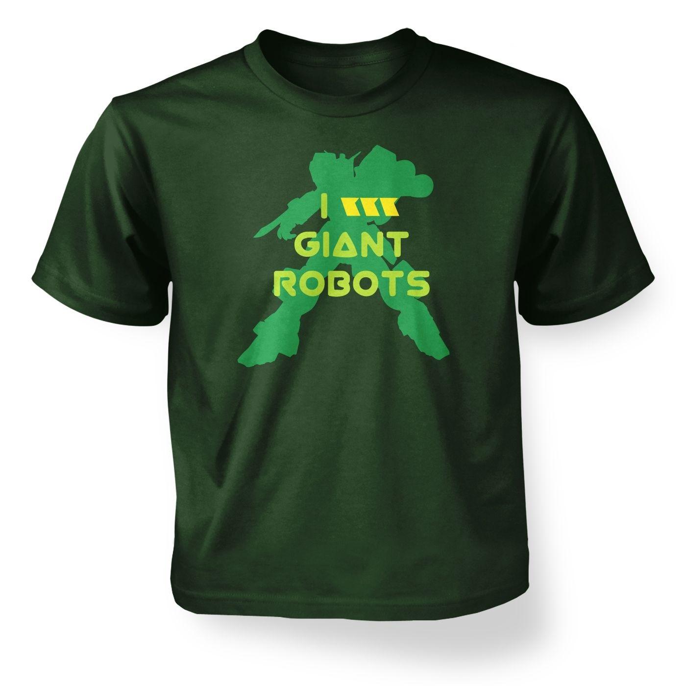I Love Giant Robots kids' t-shirt