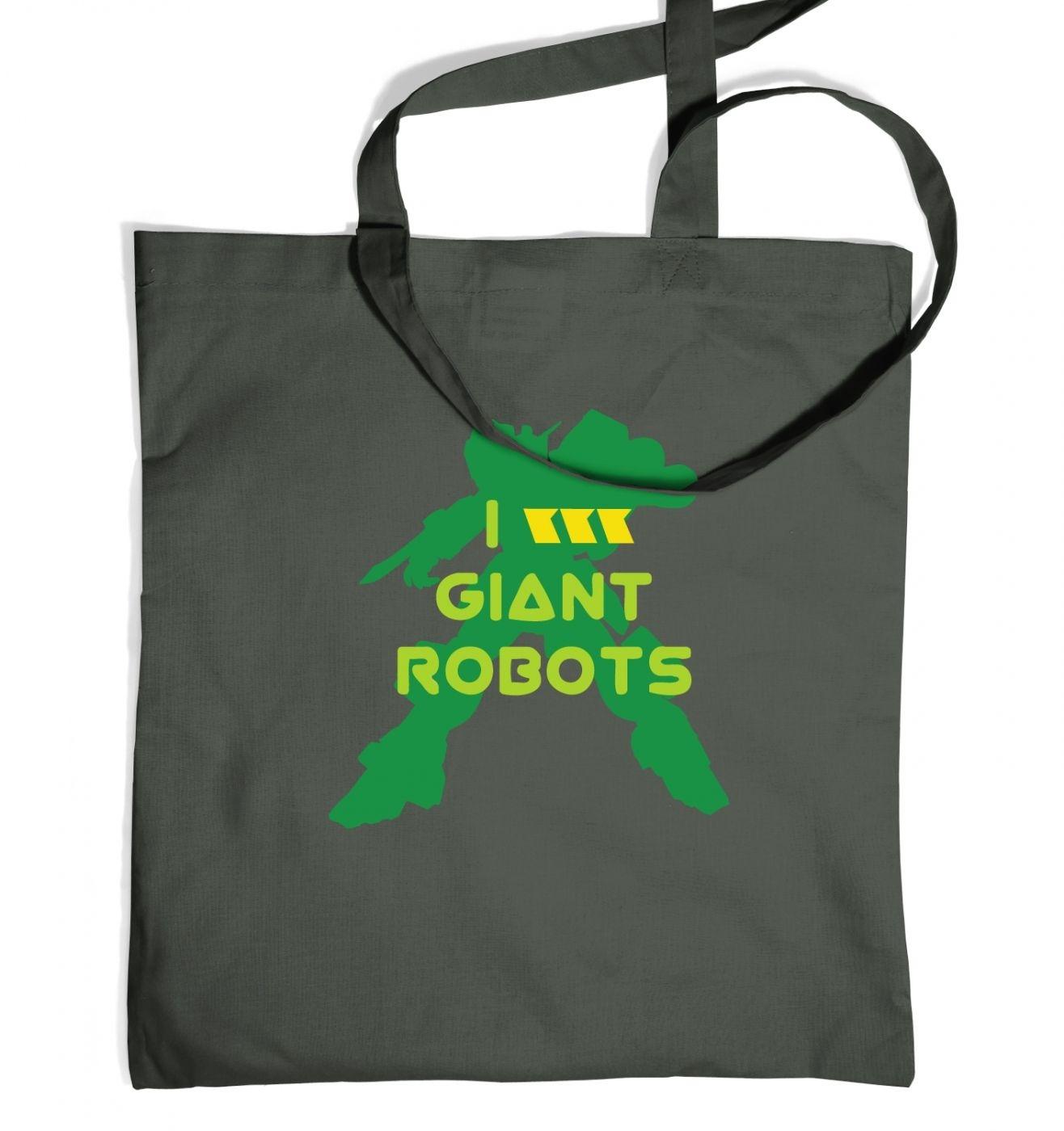I Love Giant Robots tote bag