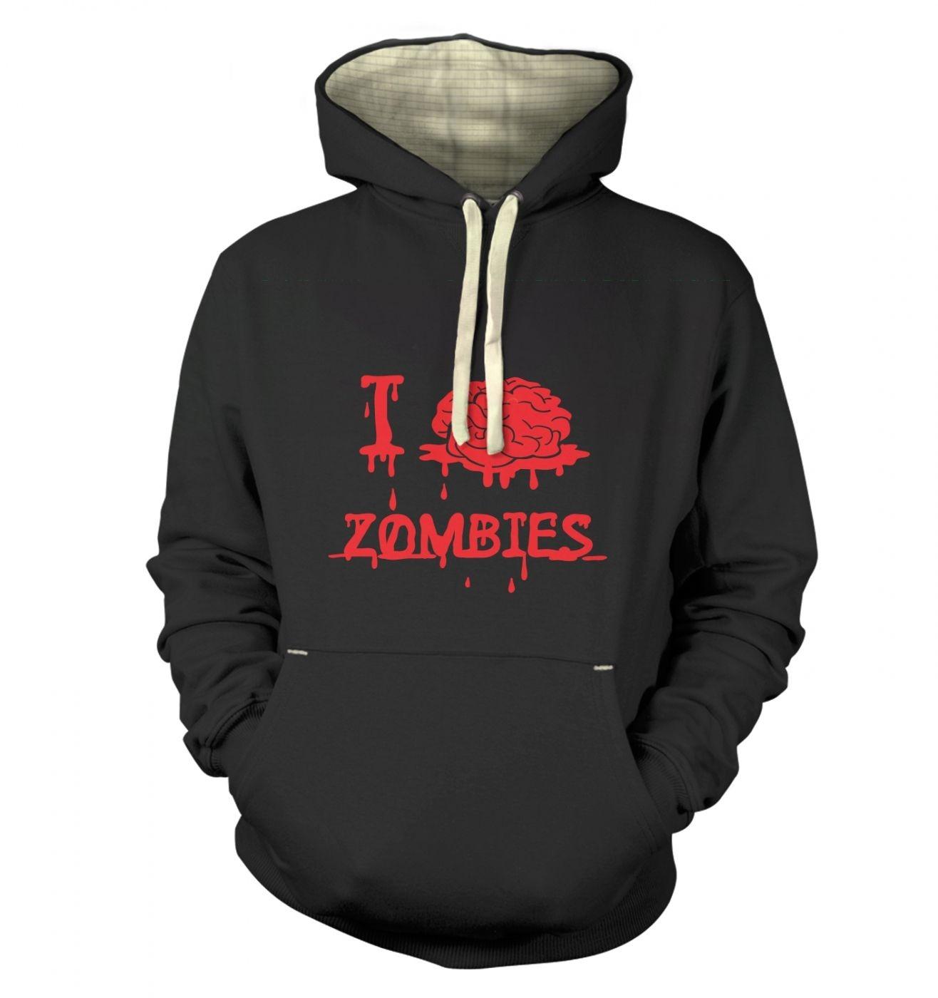 I brain Zombies Adult Premium Hoodie
