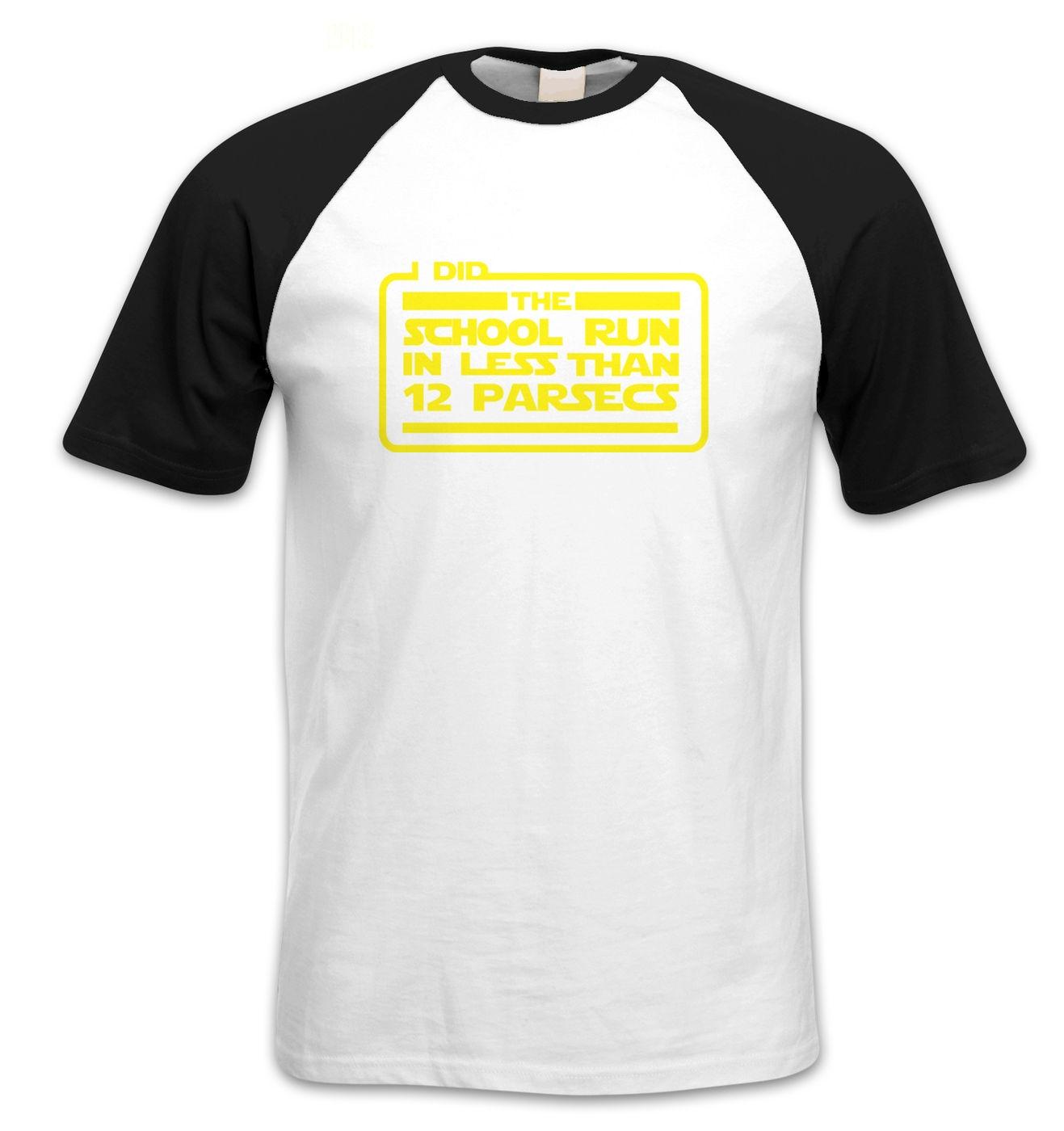 I Did The School Run In 12 Parsecs short-sleeved baseball t-shirt