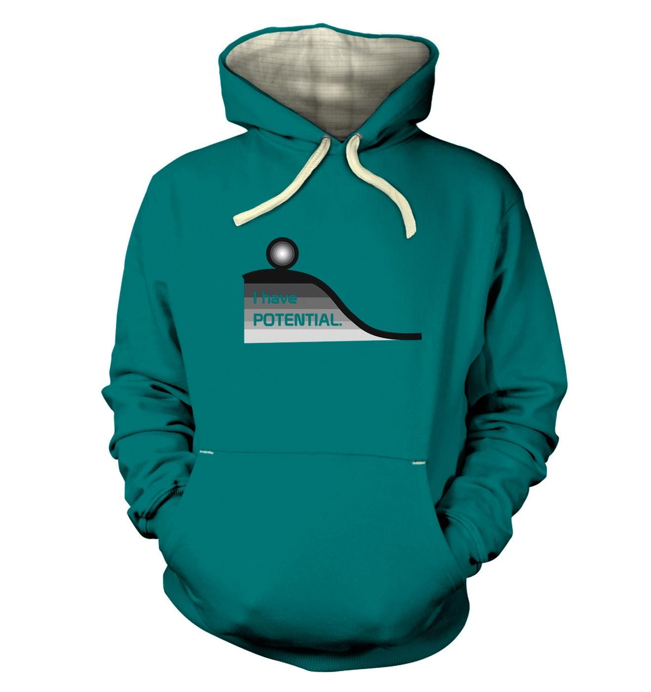 I Have Potential geeky science slogan premium hoodies