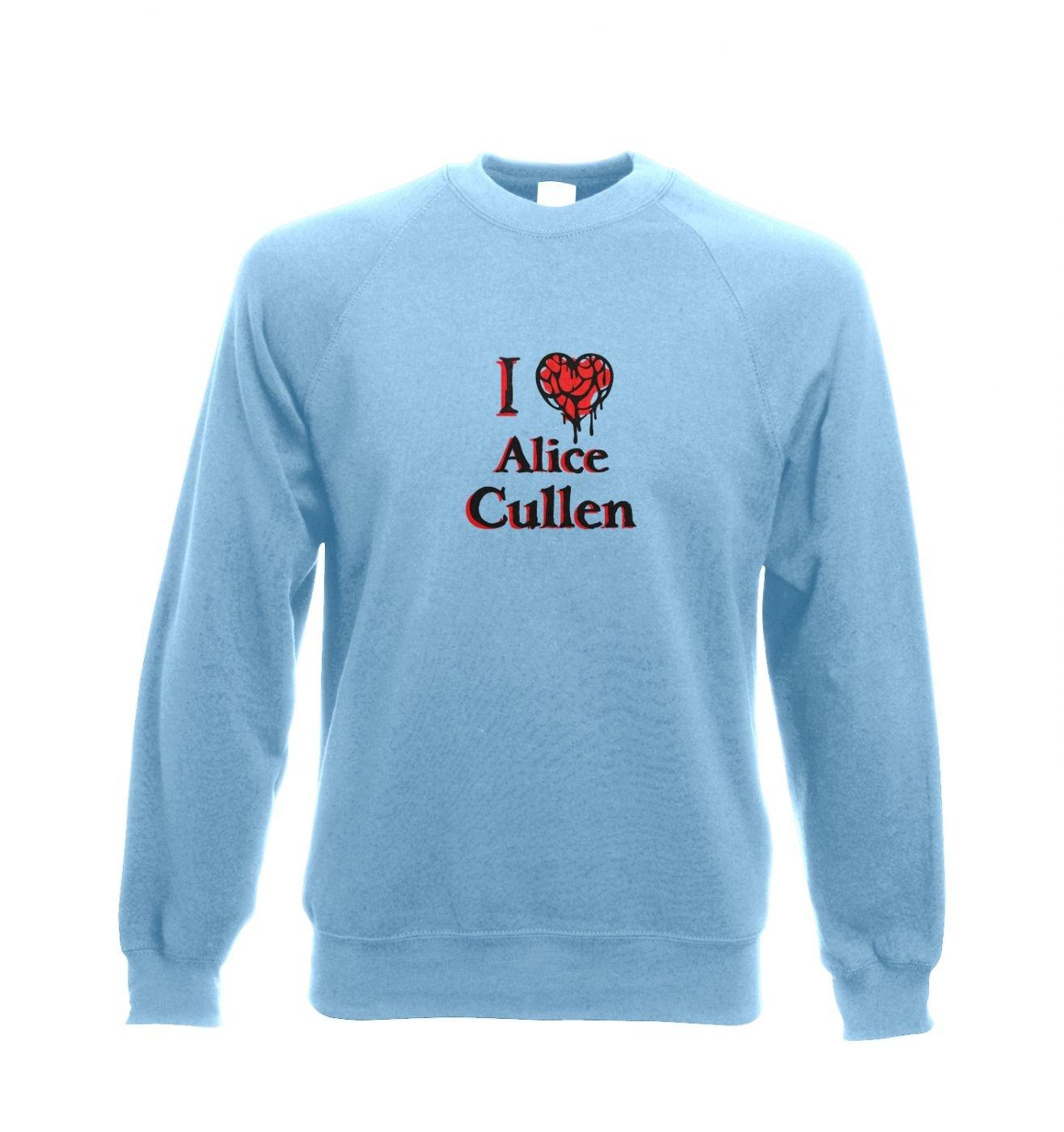 I heart Alice Cullen Adult Crewneck Sweatshirt  - Inspired by Twilight