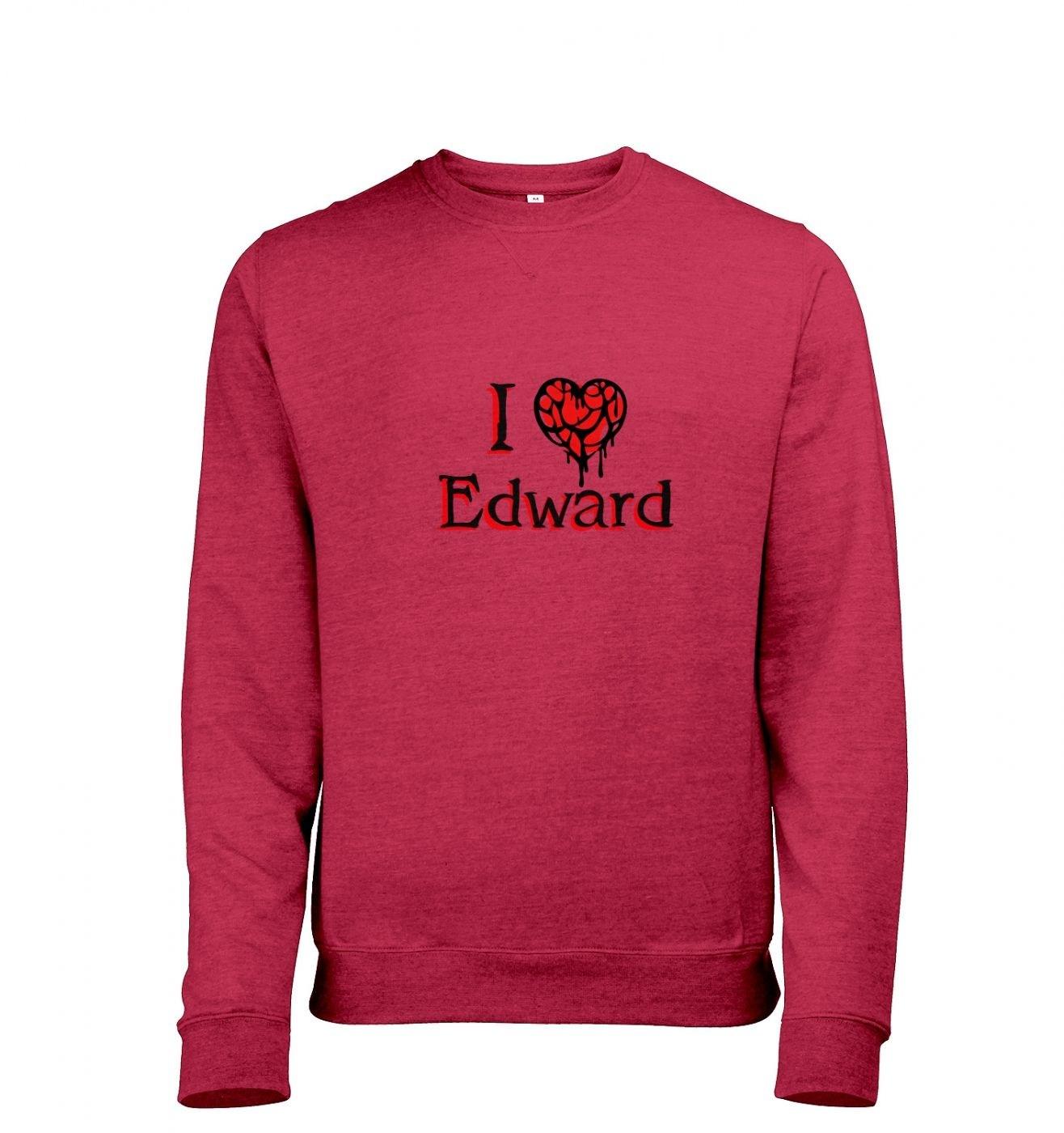 I heart Edward Mens Heather Sweatshirt   - Inspired by Twilight