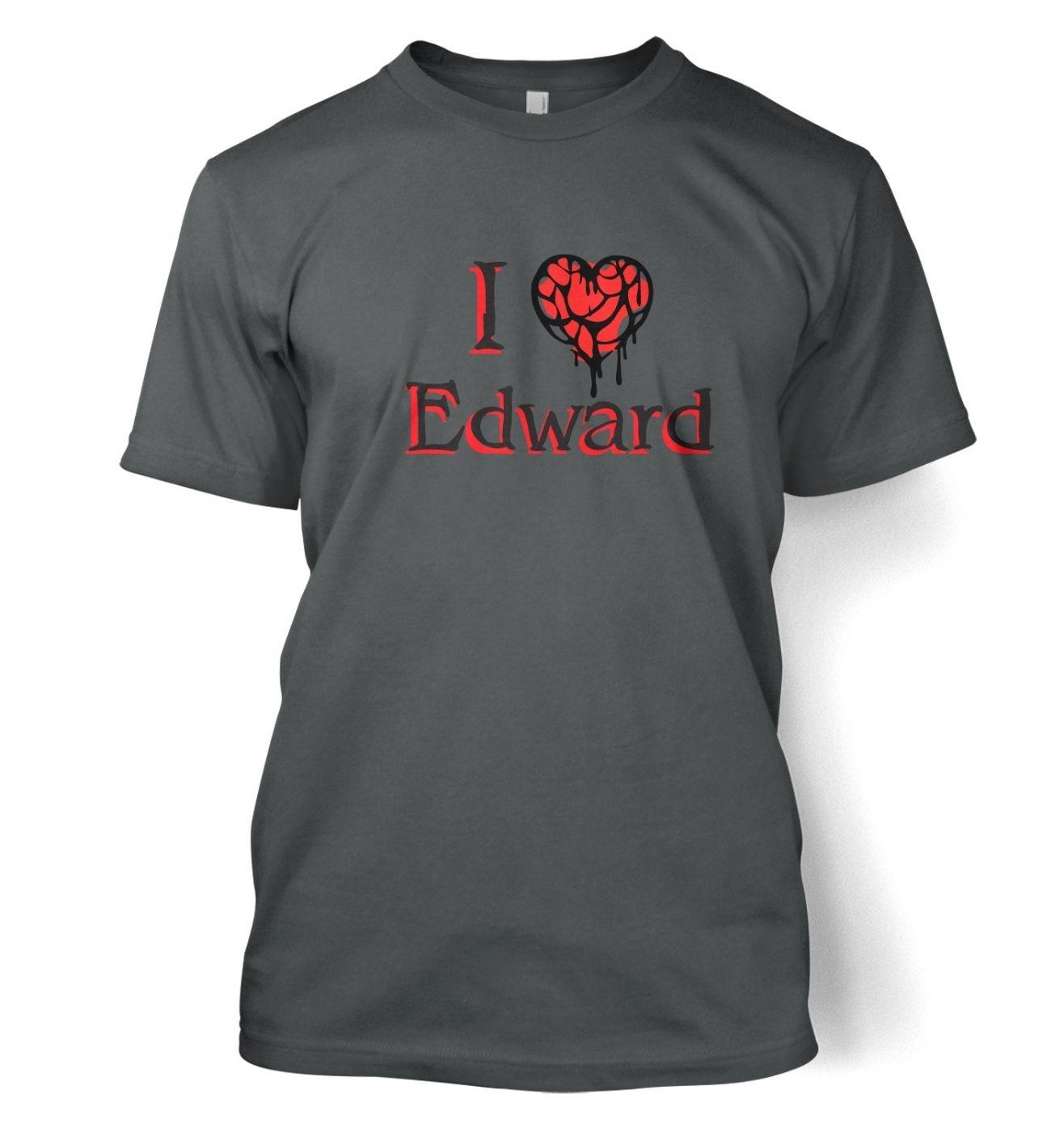 I Heart Edward men's t-shirt