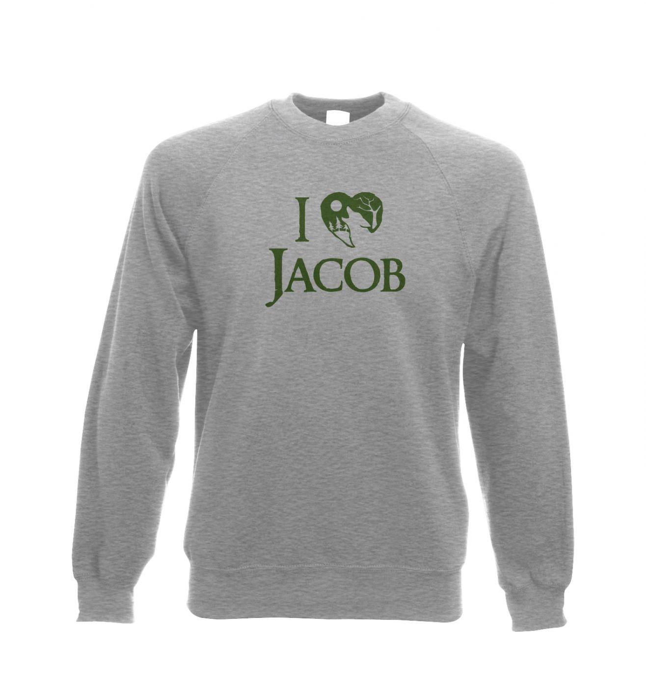 I heart Jacob Adult Crewneck Sweatshirt  - Inspired by Twilight