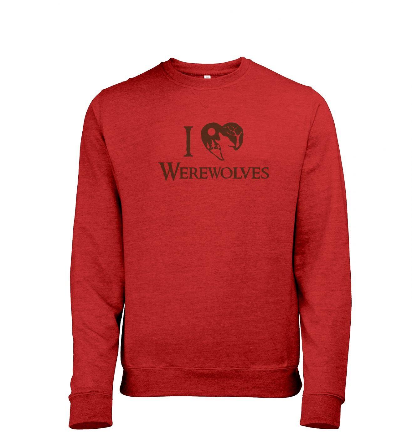 I heart werewolves Mens Heather Sweatshirt