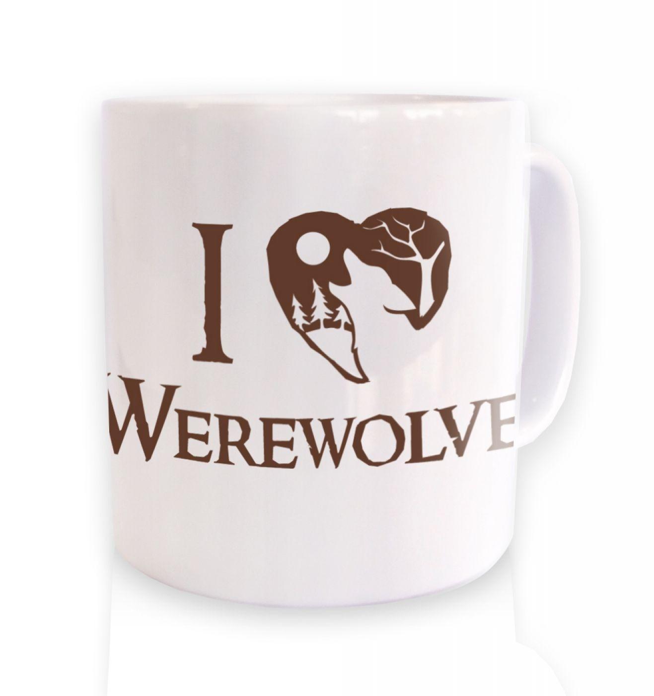 I Heart Werewolves ceramic coffee mug