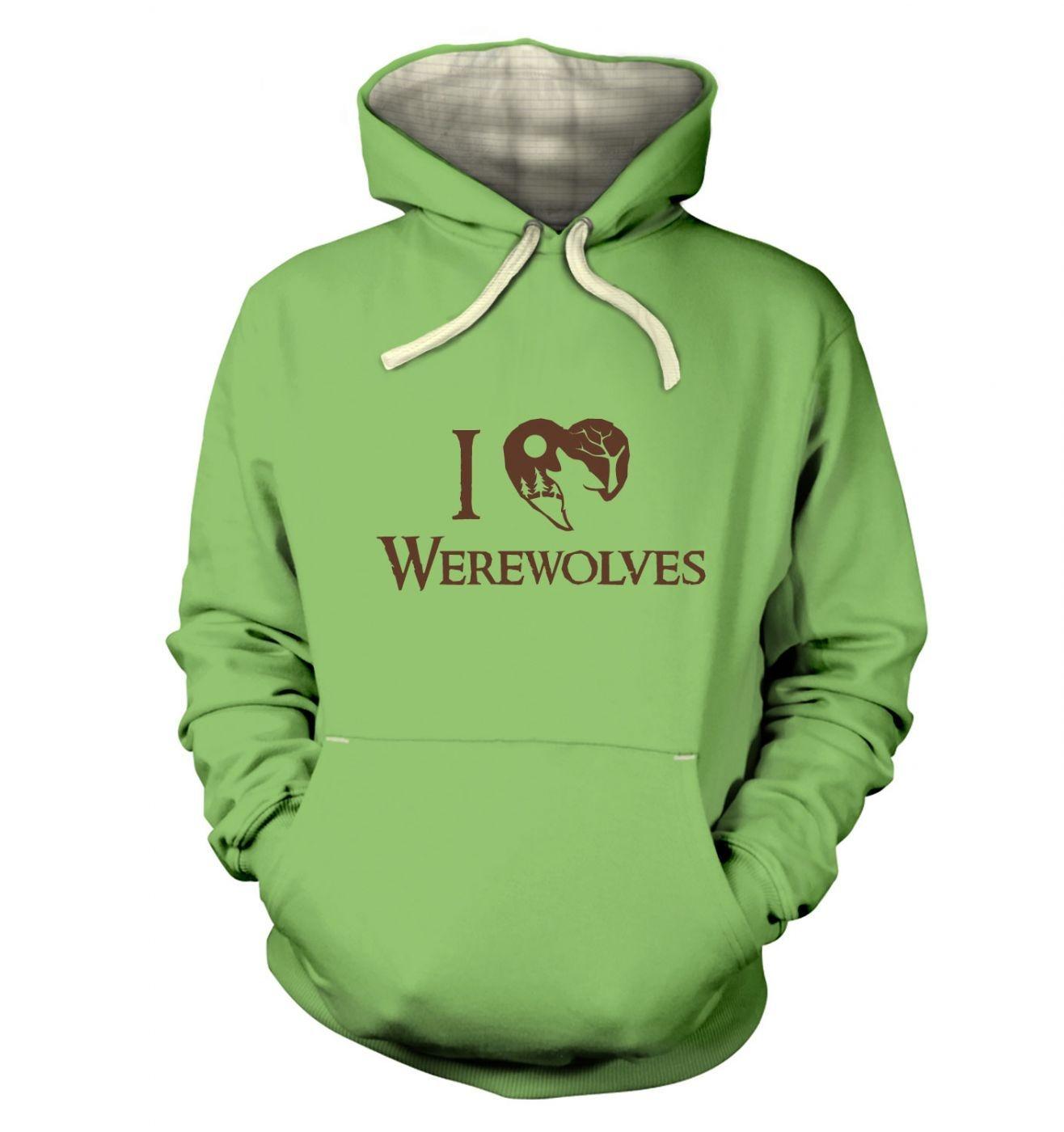 I Heart Werewolves premium hoodie