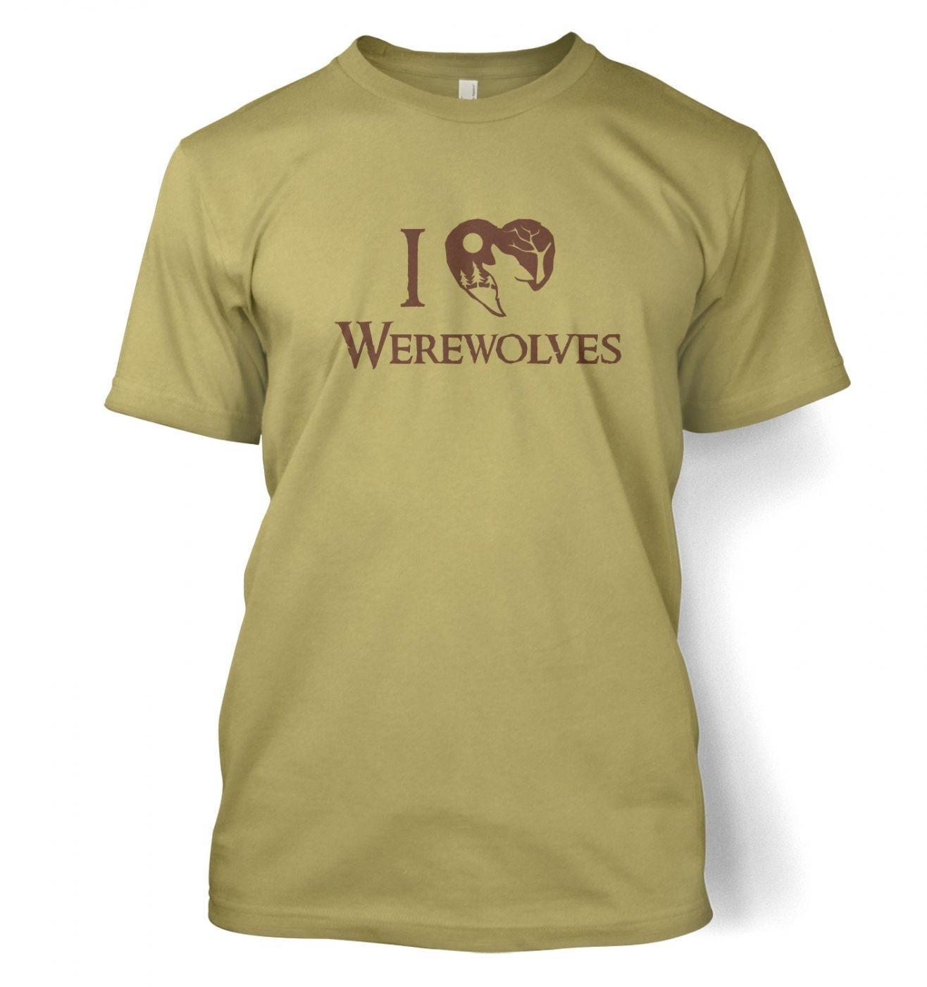 I heart werewolves t-shirt