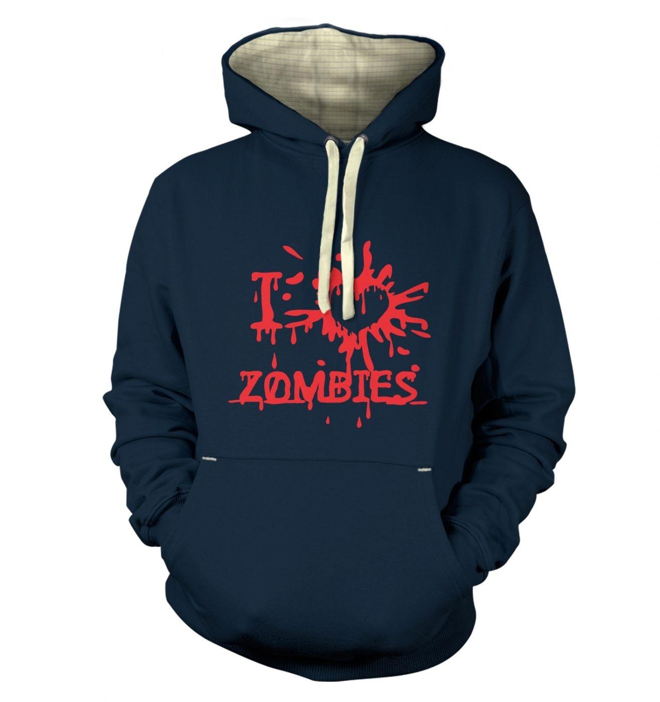 I heart Zombies Adult Premium Hoodie