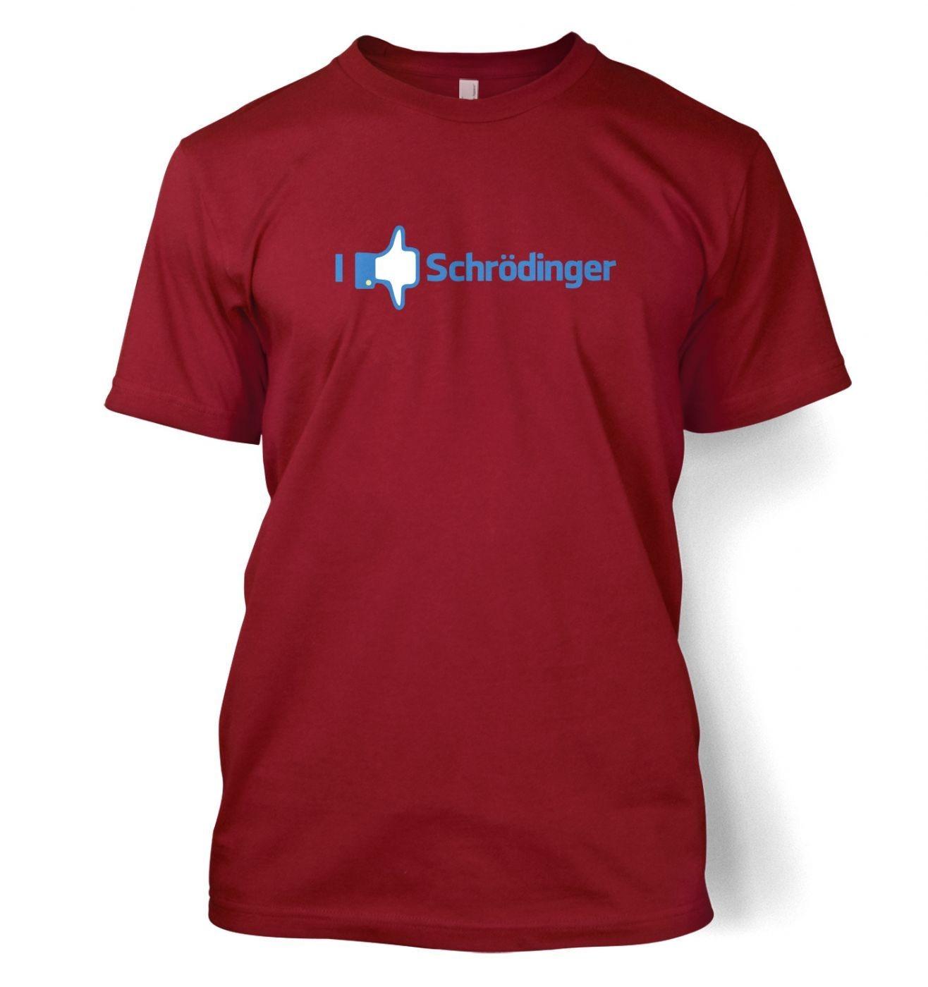 I Like Dislike Schrodinger men's t-shirt
