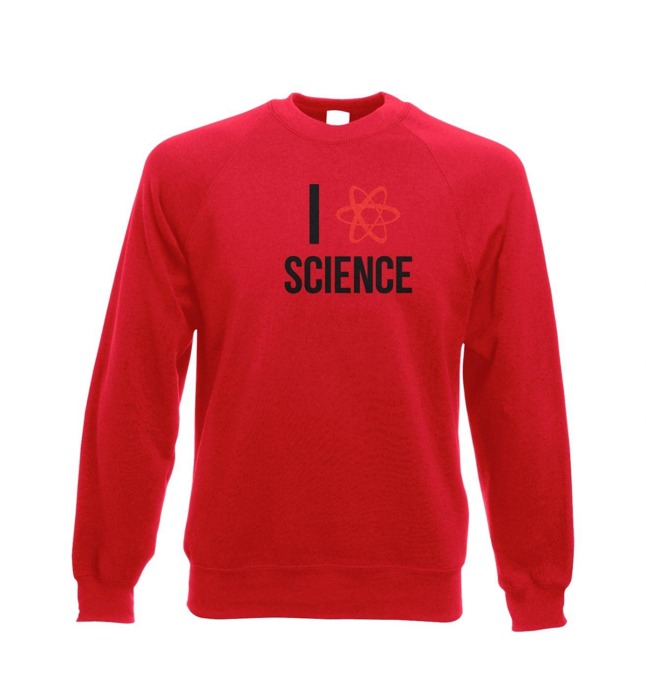 I love Science Adult Crewneck Sweatshirt