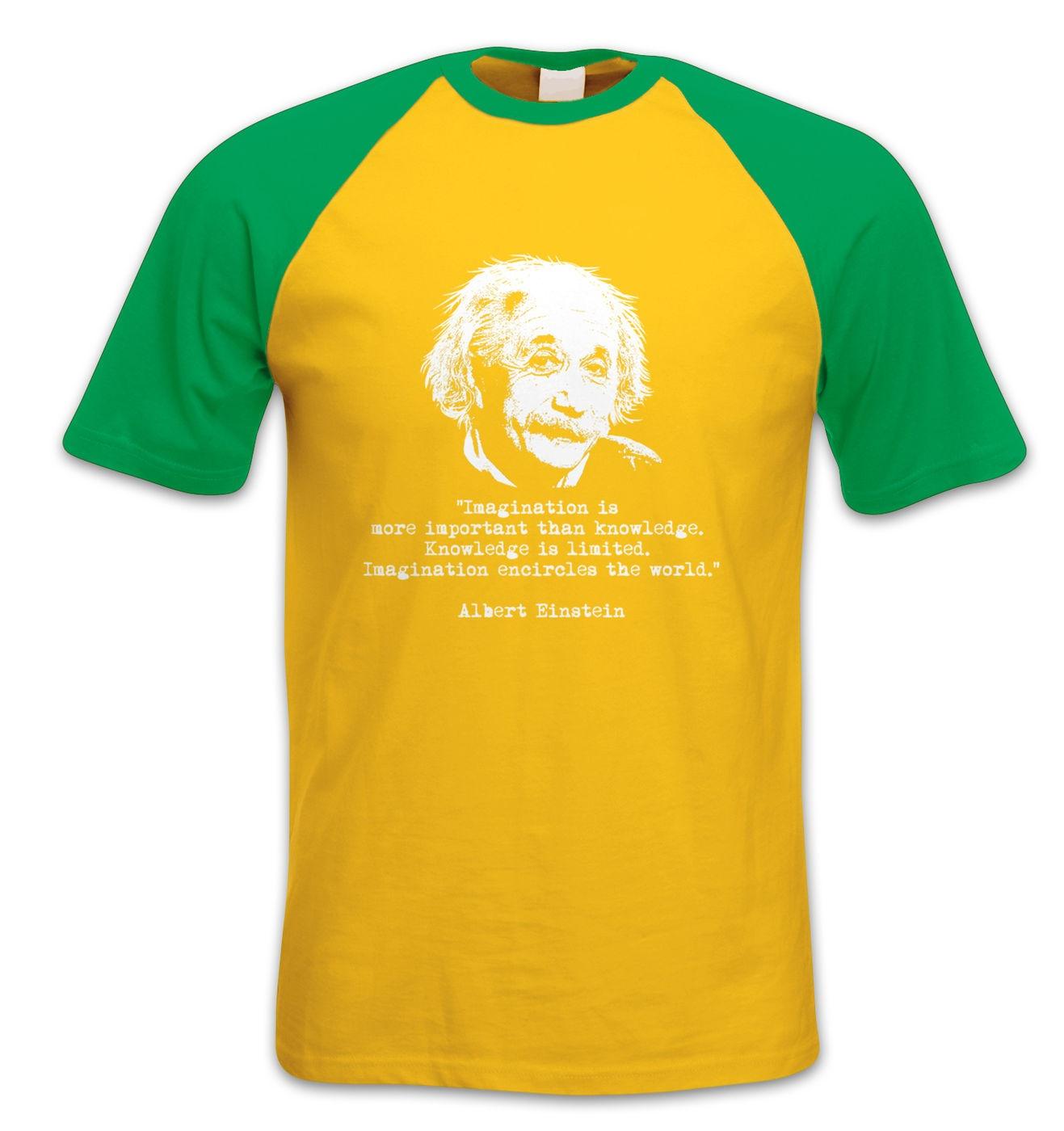 Imagination Quote Einstein short-sleeved baseball t-shirt