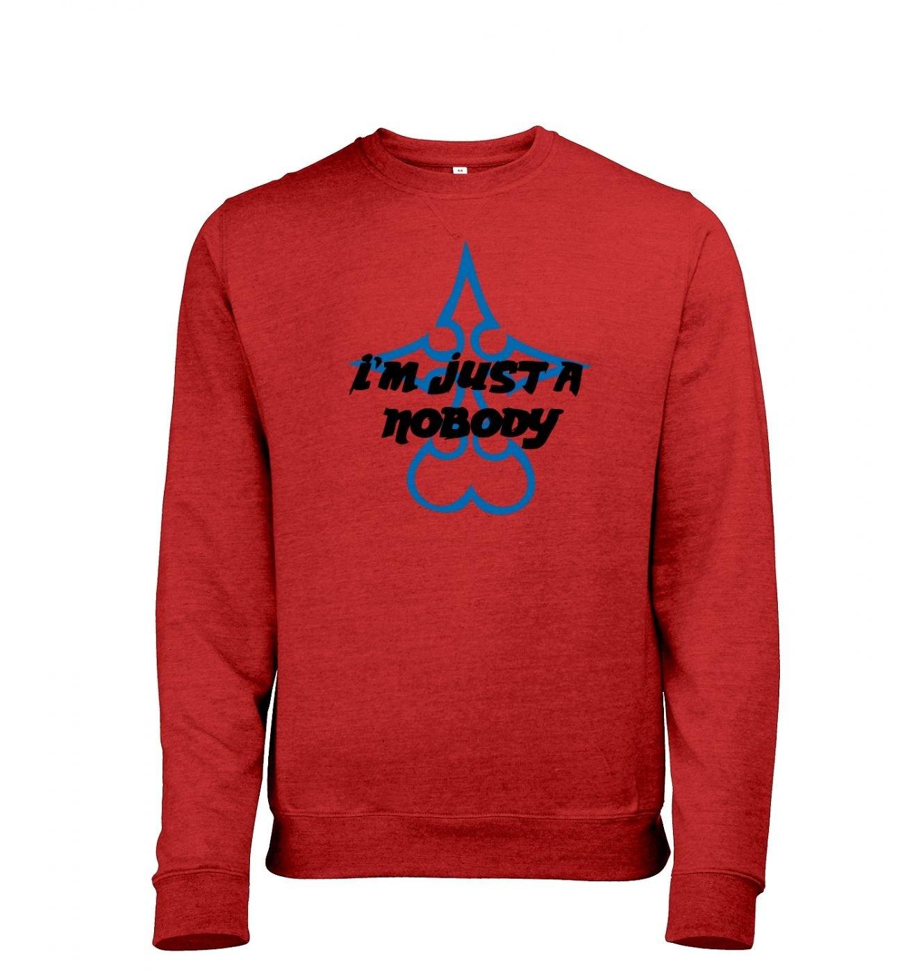 Just A Nobody men's heather sweatshirt
