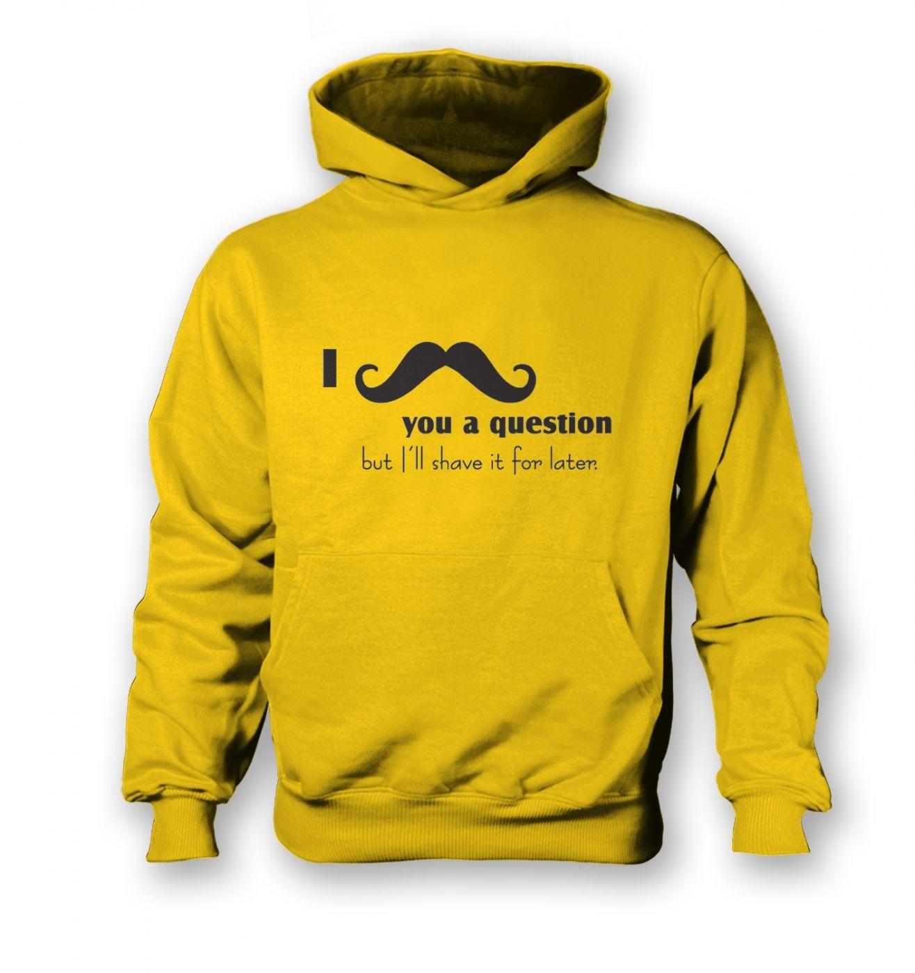I moustache you a question kids hoodie