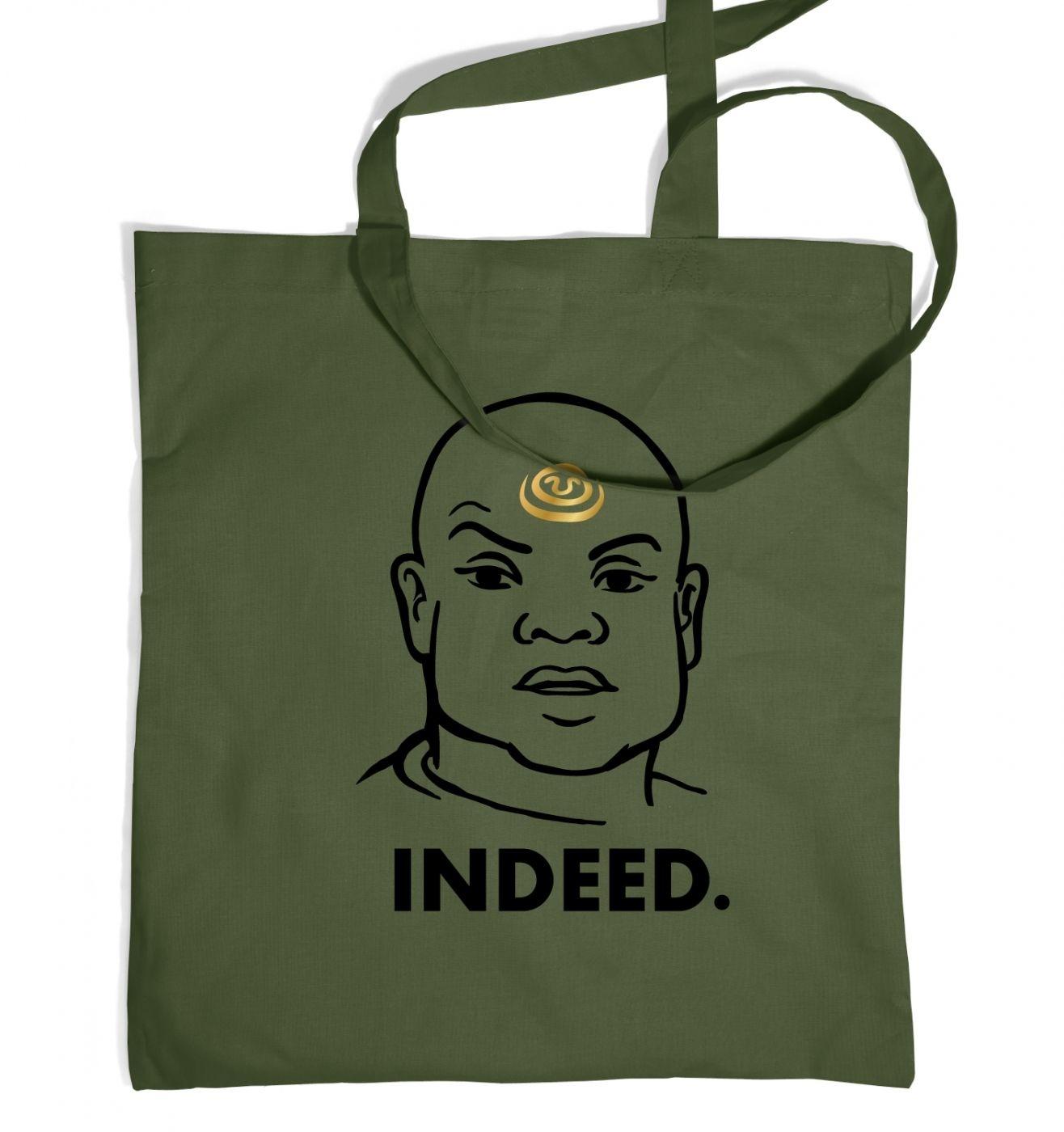 Indeed Teal'c tote bag