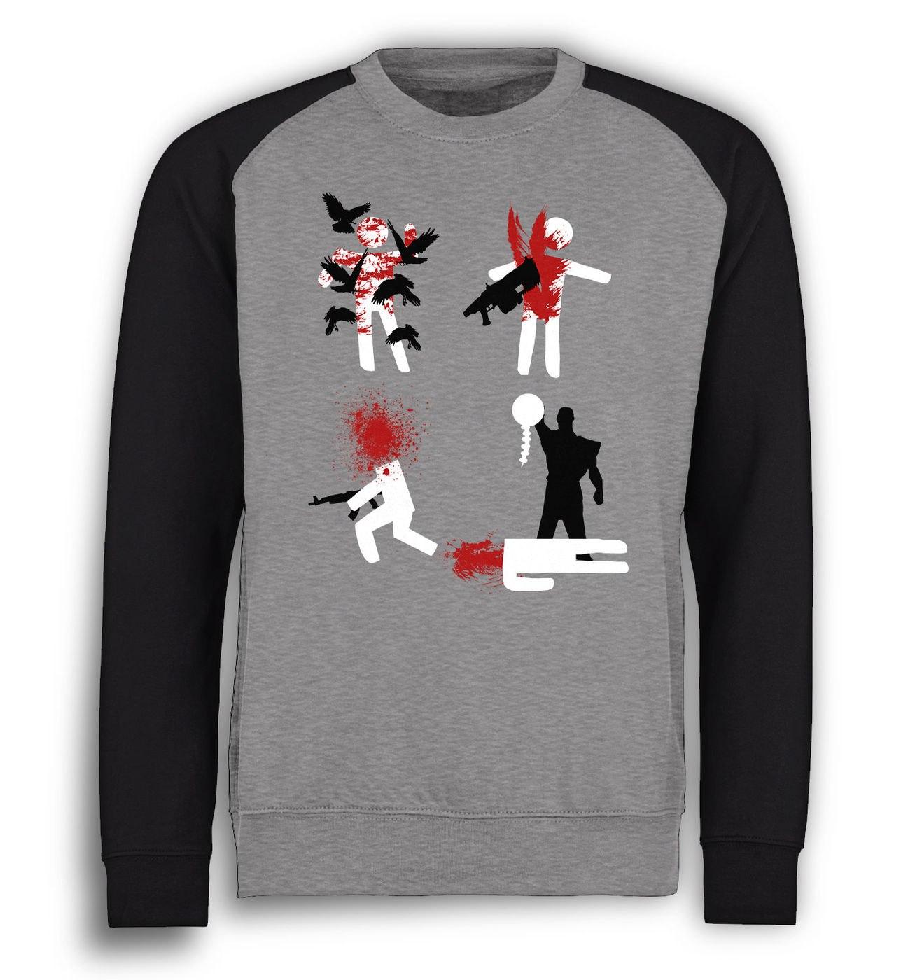 Ingame Deaths baseball sweatshirt by Something Geeky