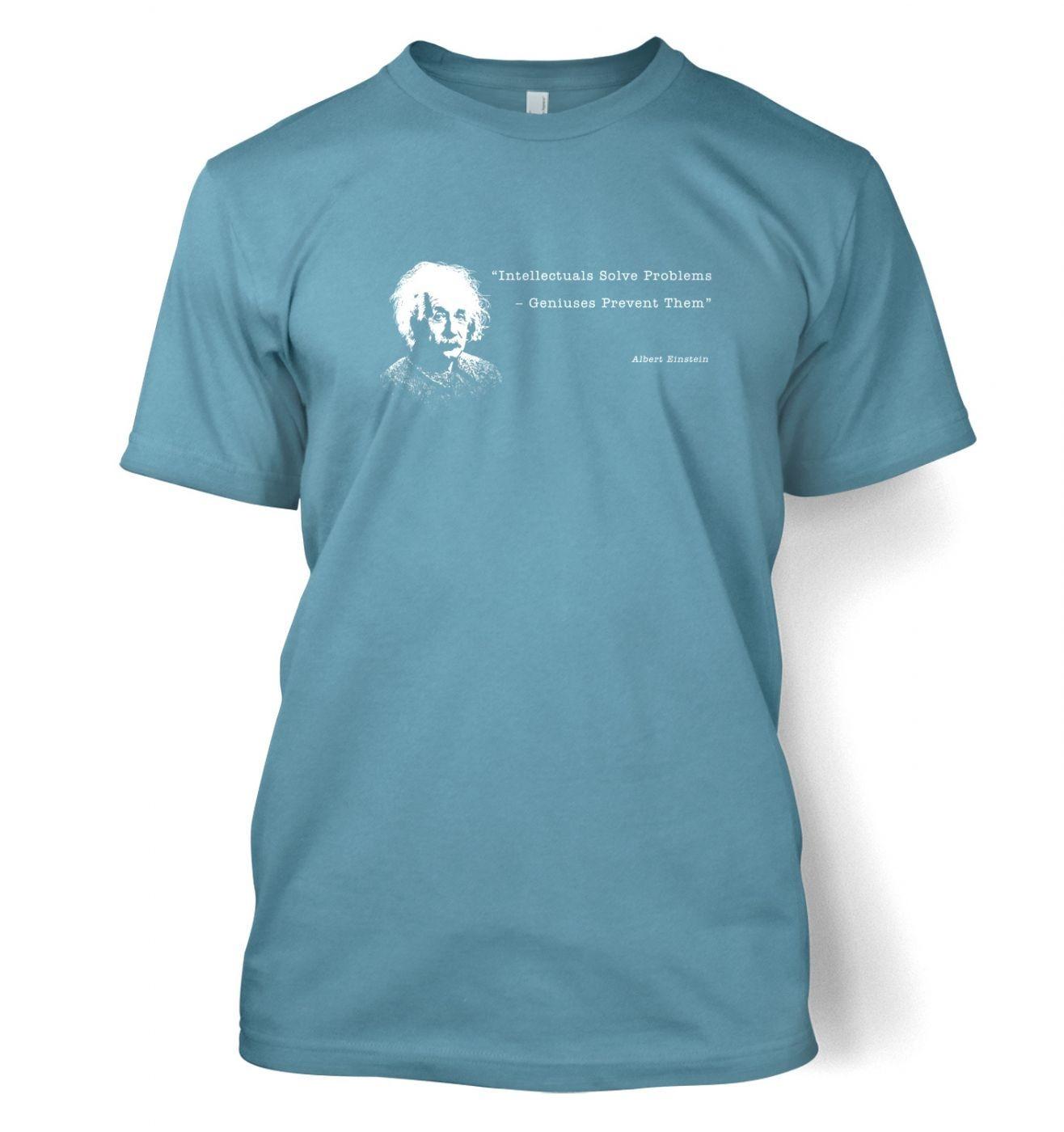 Intellectuals Solve Problems Einstein t-shirt