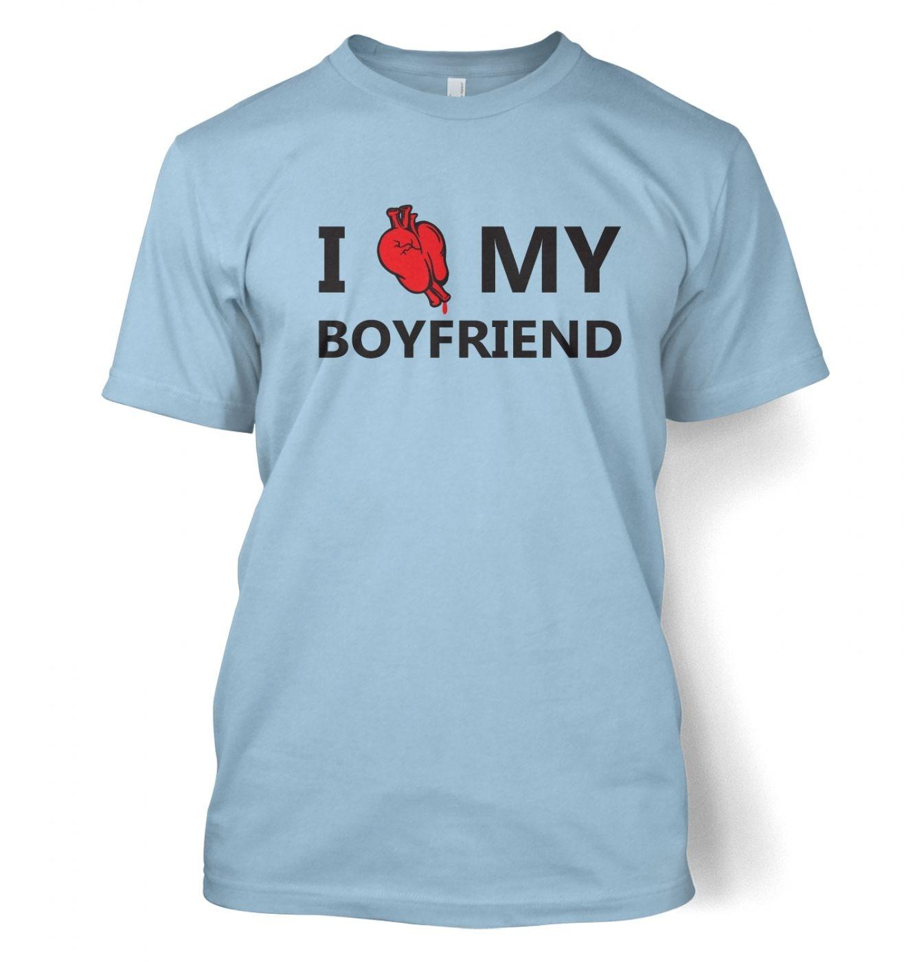 I real heart my boyfriend t-shirt