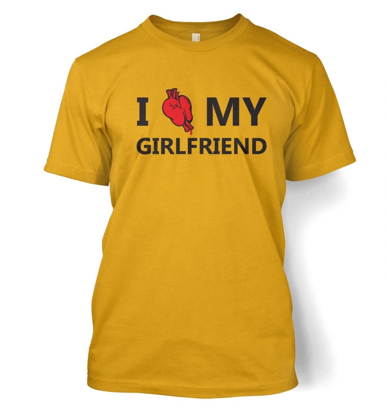 I real heart my girlfriend t-shirt