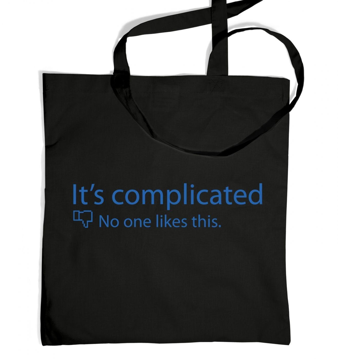 It's Complicated Social Status tote bag