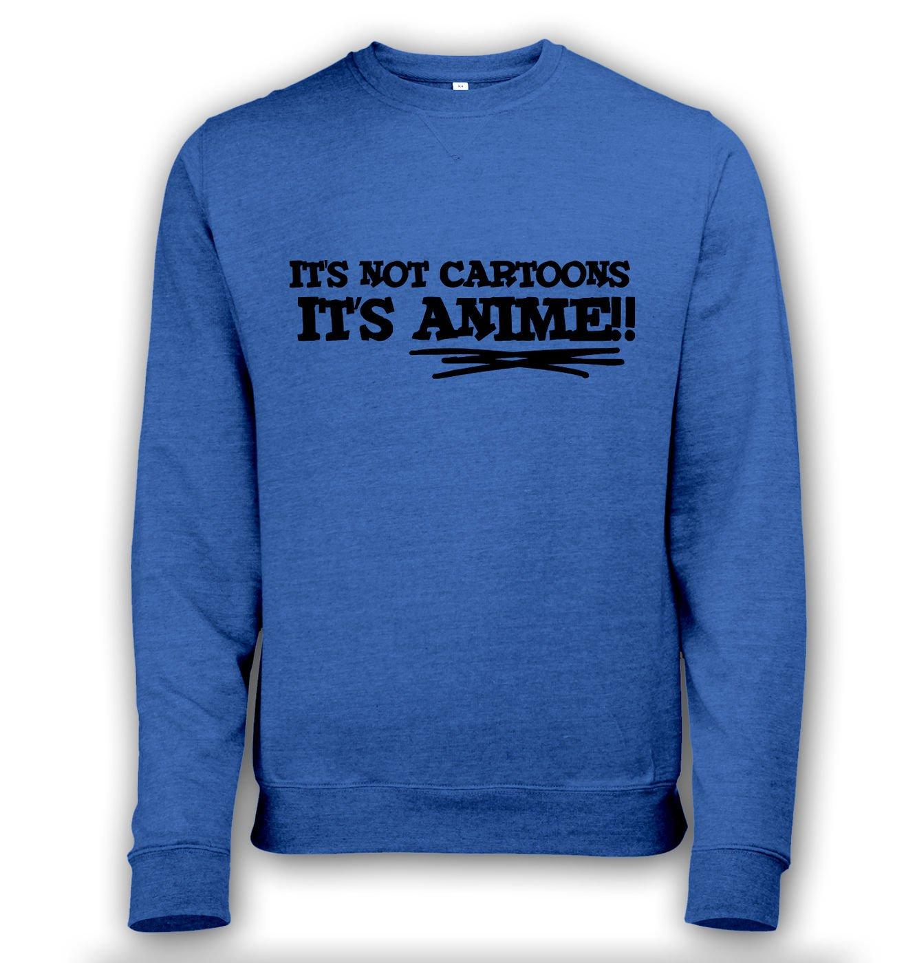 It's Not Cartoons! men's heather sweatshirt